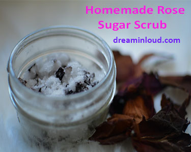 DIY-rose-sugar-scrub-recipe-dreaming-loud