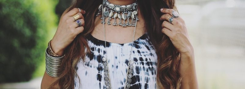 Forever-21-boho-jewelry | Boho Grunge Outfit featured by popular Ohio modest fashion blogger, Dreaming Loud