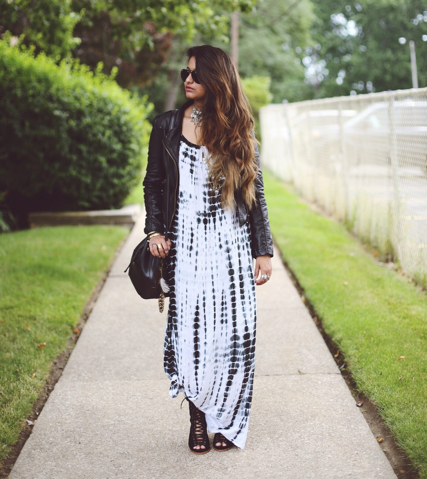 forever-21-tie-dye-maxi-dress-dl-2 | Boho Grunge Outfit featured by popular Ohio modest fashion blogger, Dreaming Loud