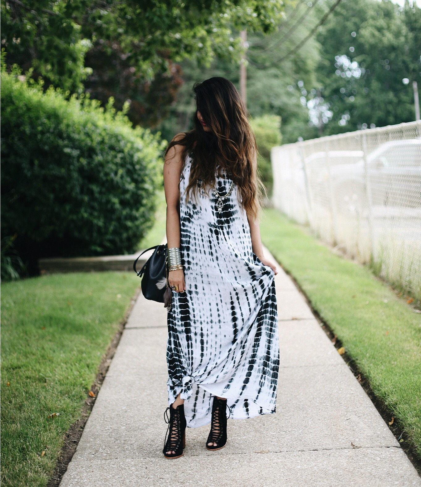 tie-dye-boho-maxi-dress-dl-3 | Boho Grunge Outfit featured by popular Ohio modest fashion blogger, Dreaming Loud