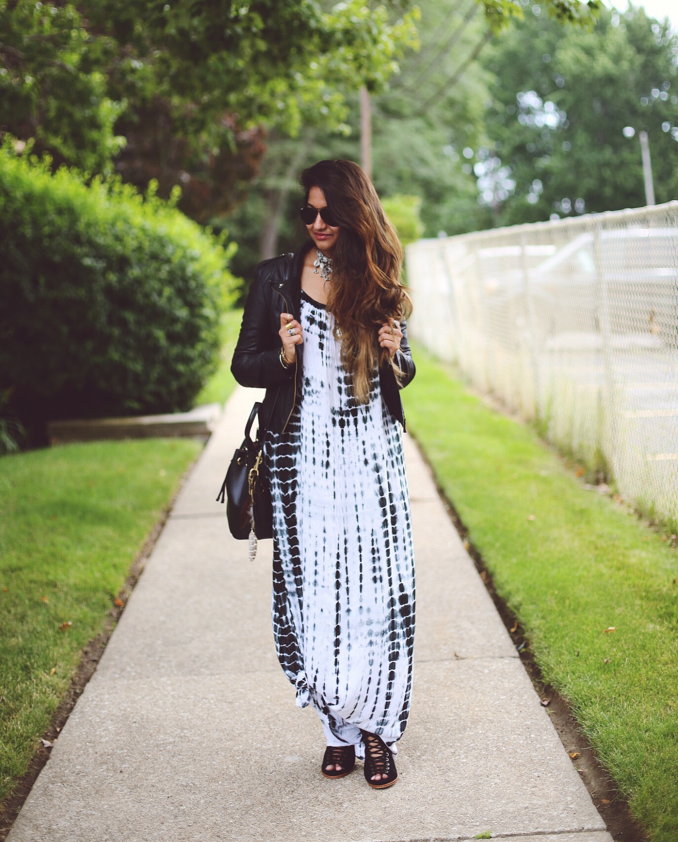 tie-dye-maxi-dress | Boho Grunge Outfit featured by popular Ohio modest fashion blogger, Dreaming Loud