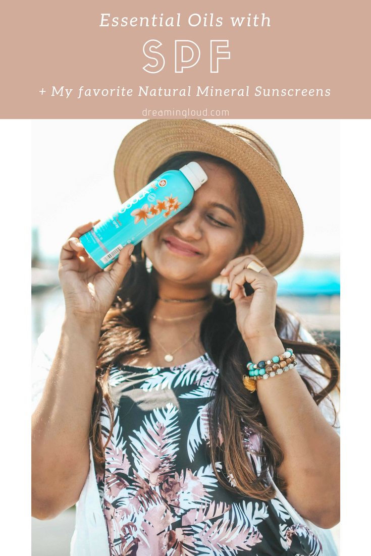 Essential Oils with SPF featured by popular natural beauty blogger, Dreaming Loud
