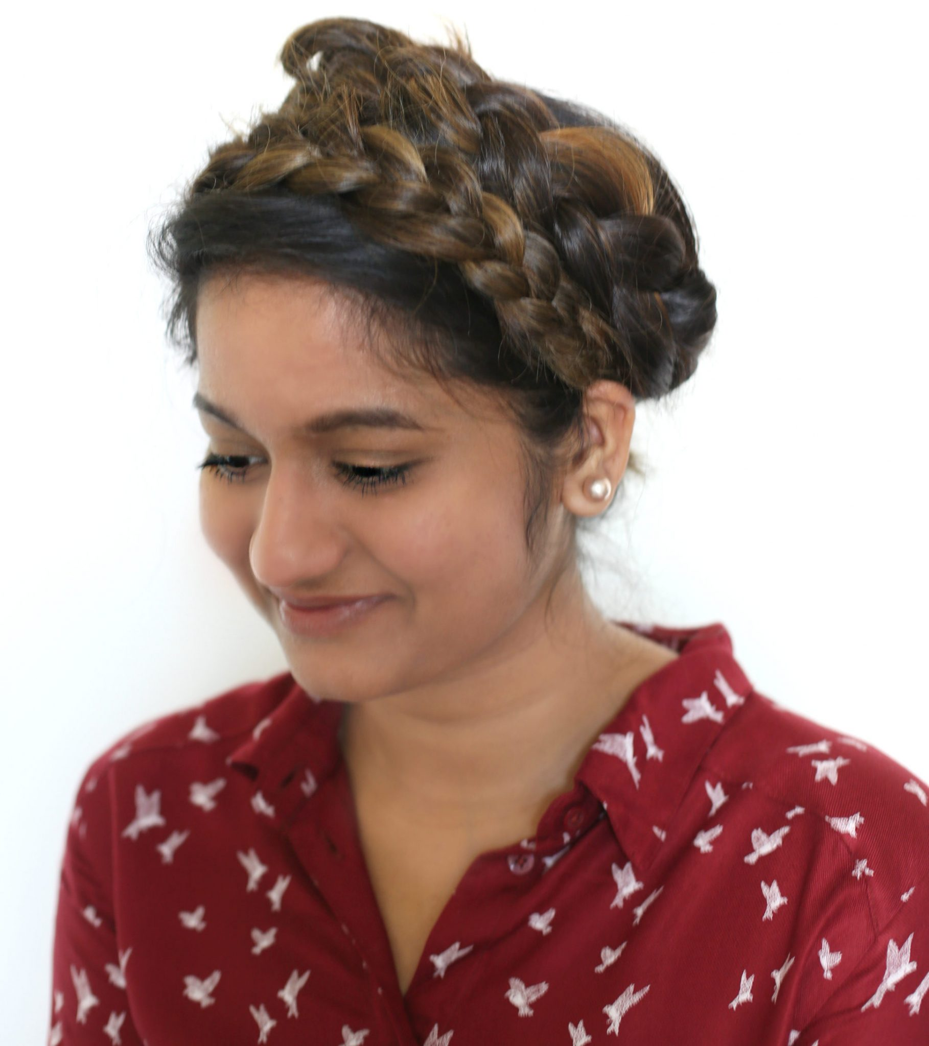 easy-crown-braid-tutorial-dl-9 - Super Easy Crown Braid Tutorial featured by popular Ohio natural style blogger, Dreaming Loud