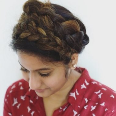 the-easy-crown-braid-tutorial-dreaming-loud-11 - Super Easy Crown Braid Tutorial featured by popular Ohio natural style blogger, Dreaming Loud