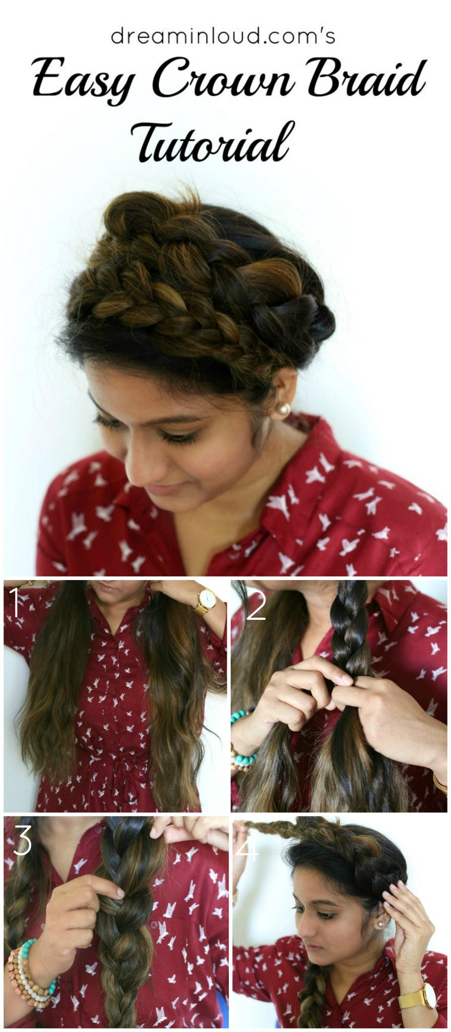 the-easy-crown-braid-tutorial-dreaming-loud-3 - Super Easy Crown Braid Tutorial featured by popular Ohio natural style blogger, Dreaming Loud