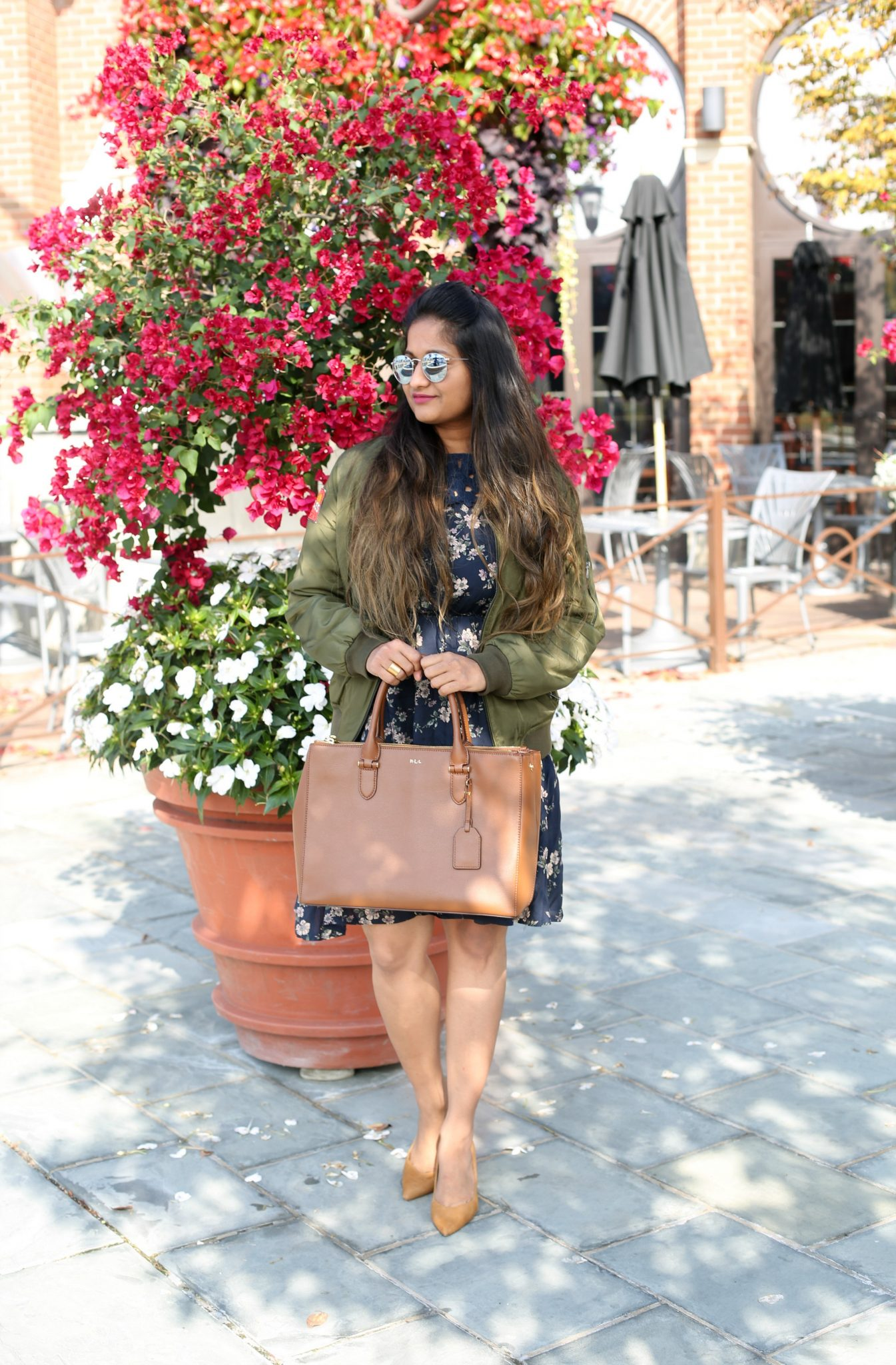 banana-republic-madison-12-hour-pump-nutmeg - How To Wear Khaki featured by popular modest fashion blogger, Dreaming Loud