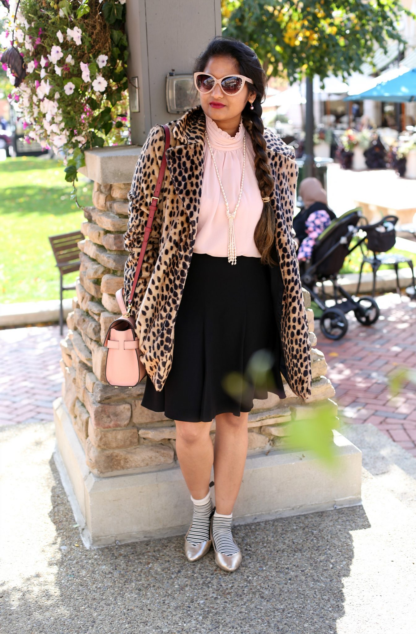how to wear leopard coat | The Leopard Print Trend featured by popular US modest fashion blogger, Dreaming Loud