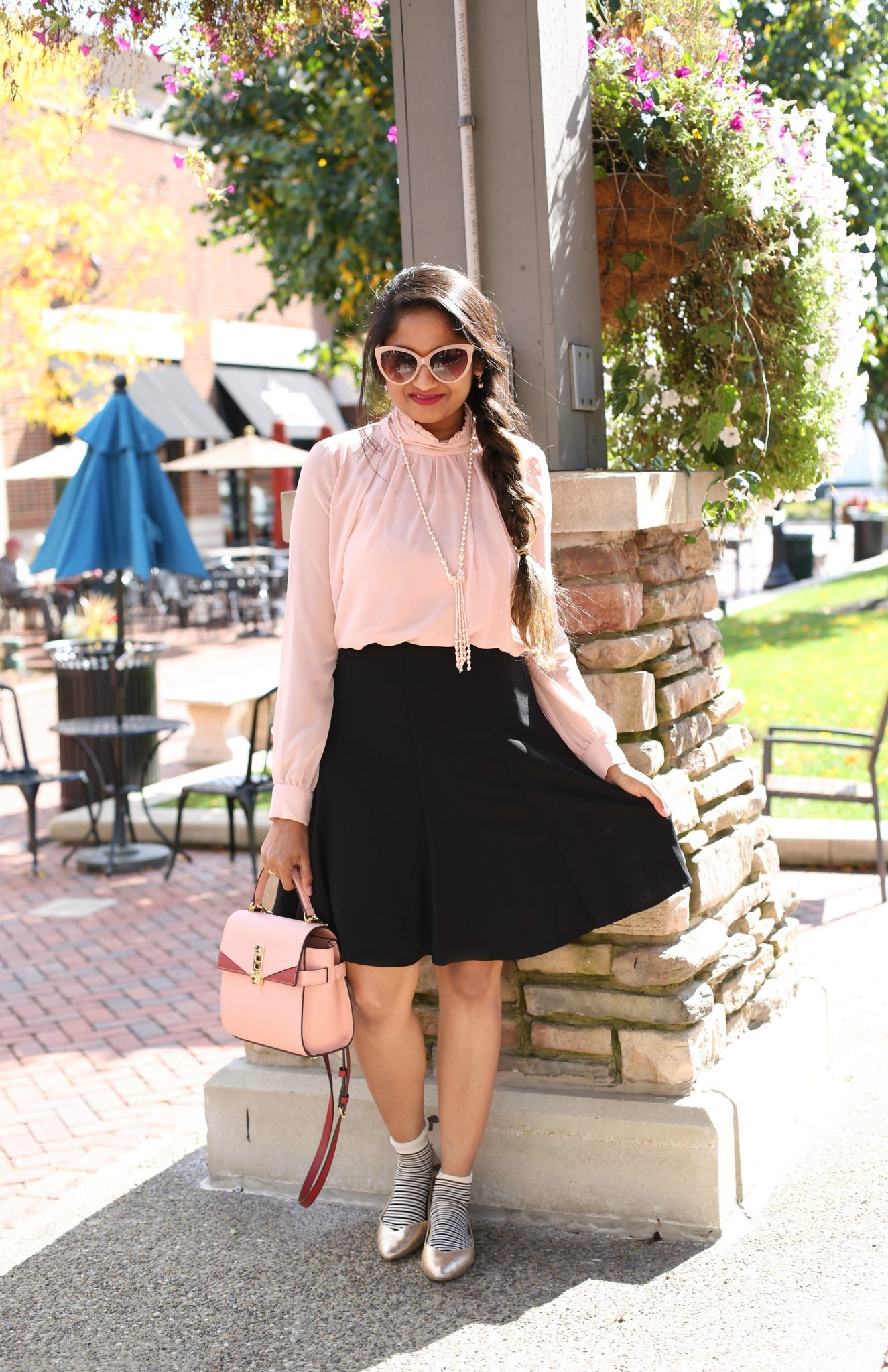 wearing Cece A-line skirt - Nordstrom Anniversary Sale top picks featured by popular Ohio modest fashion blogger, Dreaming Loud