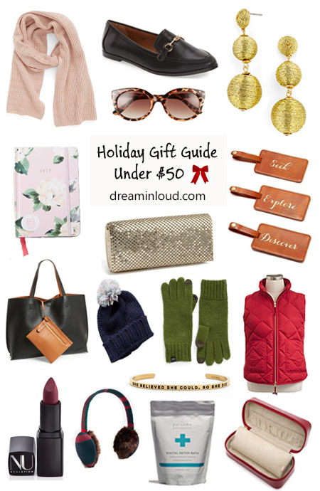 Scarf | Shoes | Earrings | Planner | Gloves | Lipsticks | Christmas | Unique Gifts Under $50 and $100 featured by top Ohio lifestyle blog Dreaming Loud