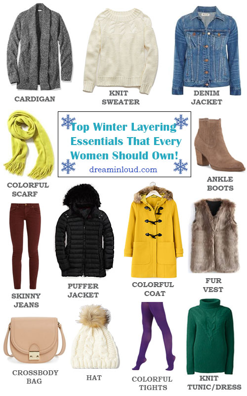 Top Winter Layering Essentials That Every Women Should Own featured by popular Ohio modest fashion blogger, Dreaming Loud