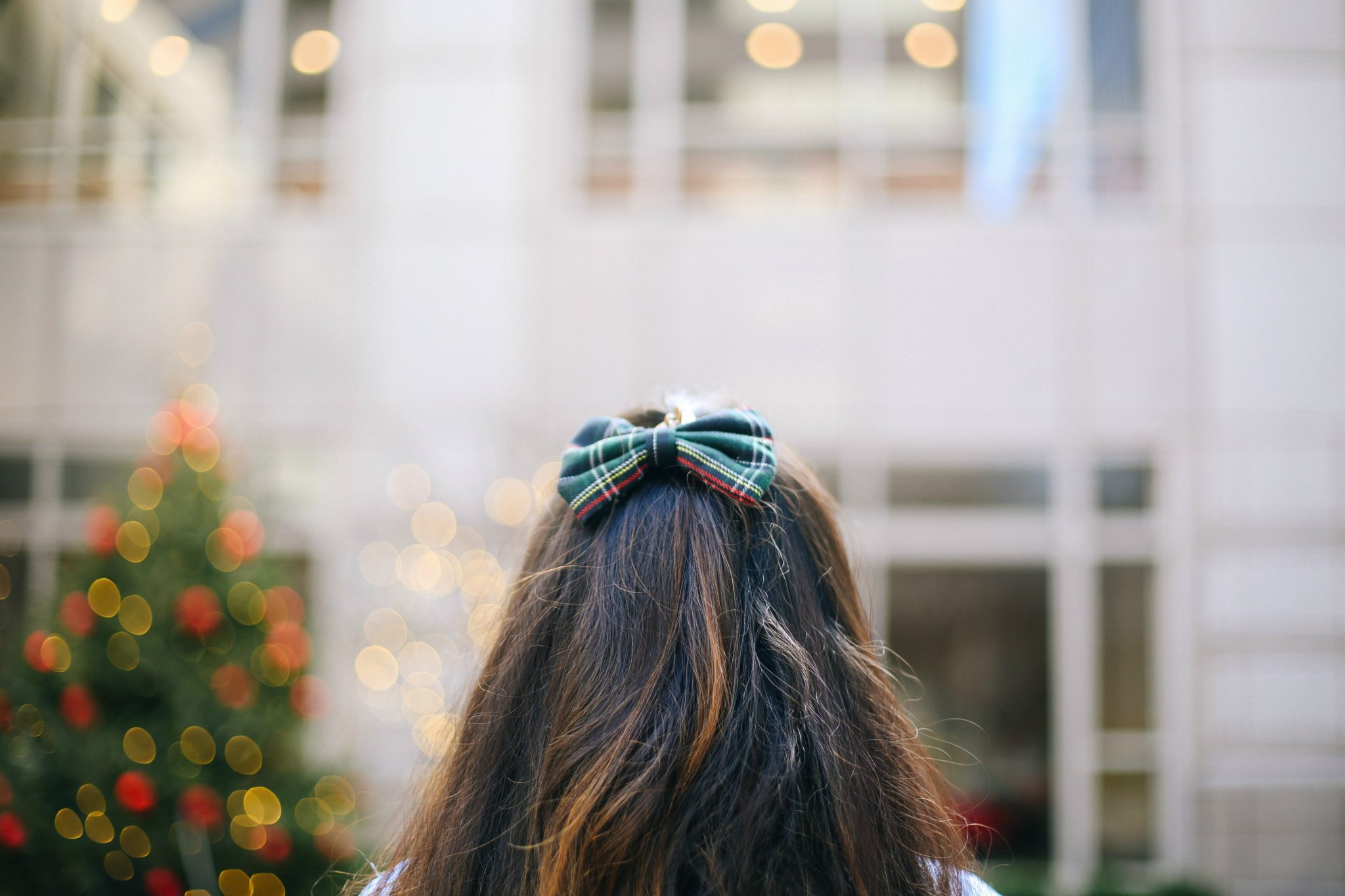 forever-21-hair-bow | Style | Christmas | Affordable Festive Clothing with Shein featured by top Ohio modest fashion blog Dreaming Loud