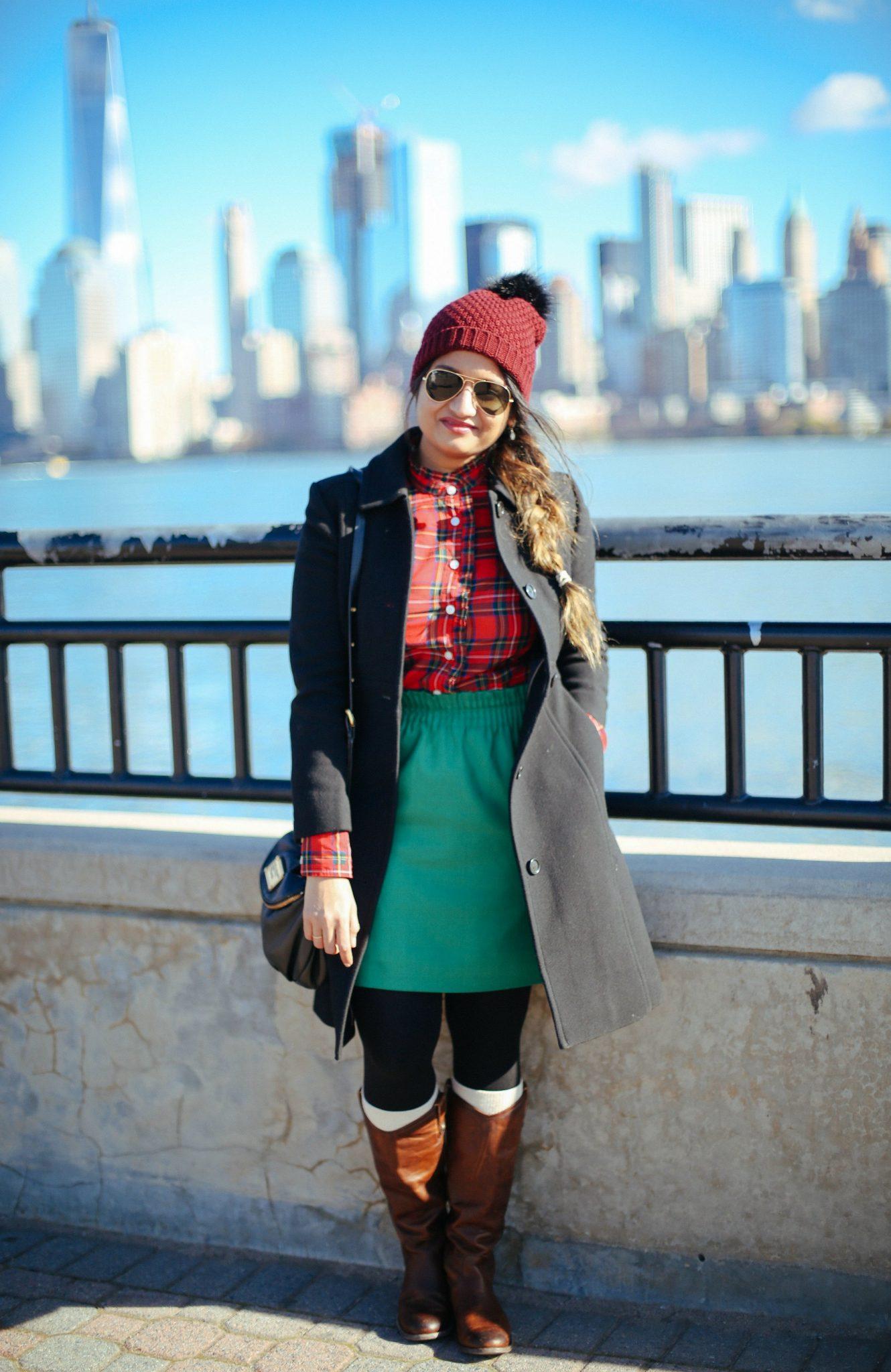 Jcrew Lady coat in black, Jcrew factory side walk skirt