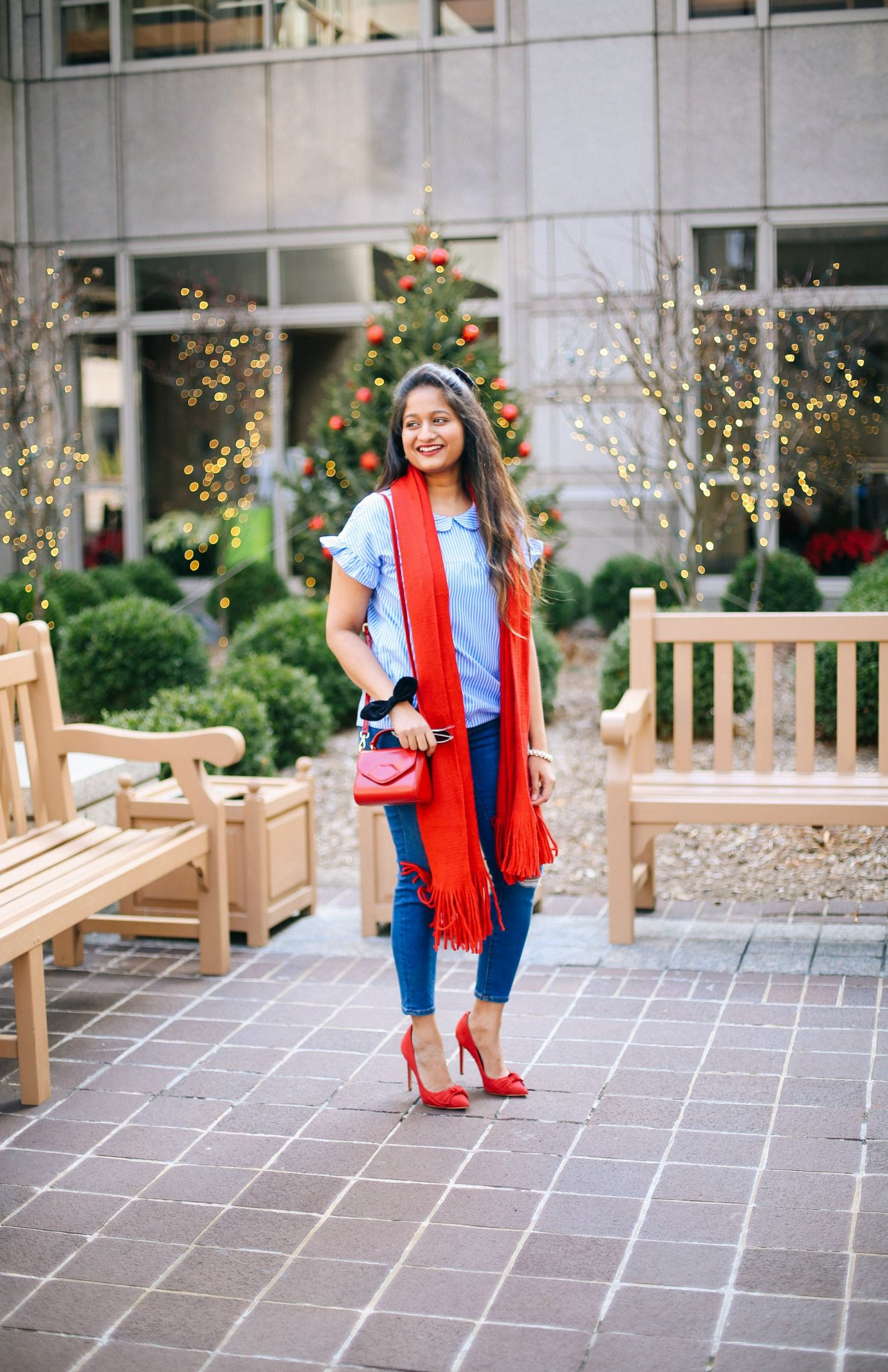 lulu-guinness-mini-izzy-red-shoulder-bag | Style | Christmas | Affordable Festive Clothing with Shein featured by top Ohio modest fashion blog Dreaming Loud