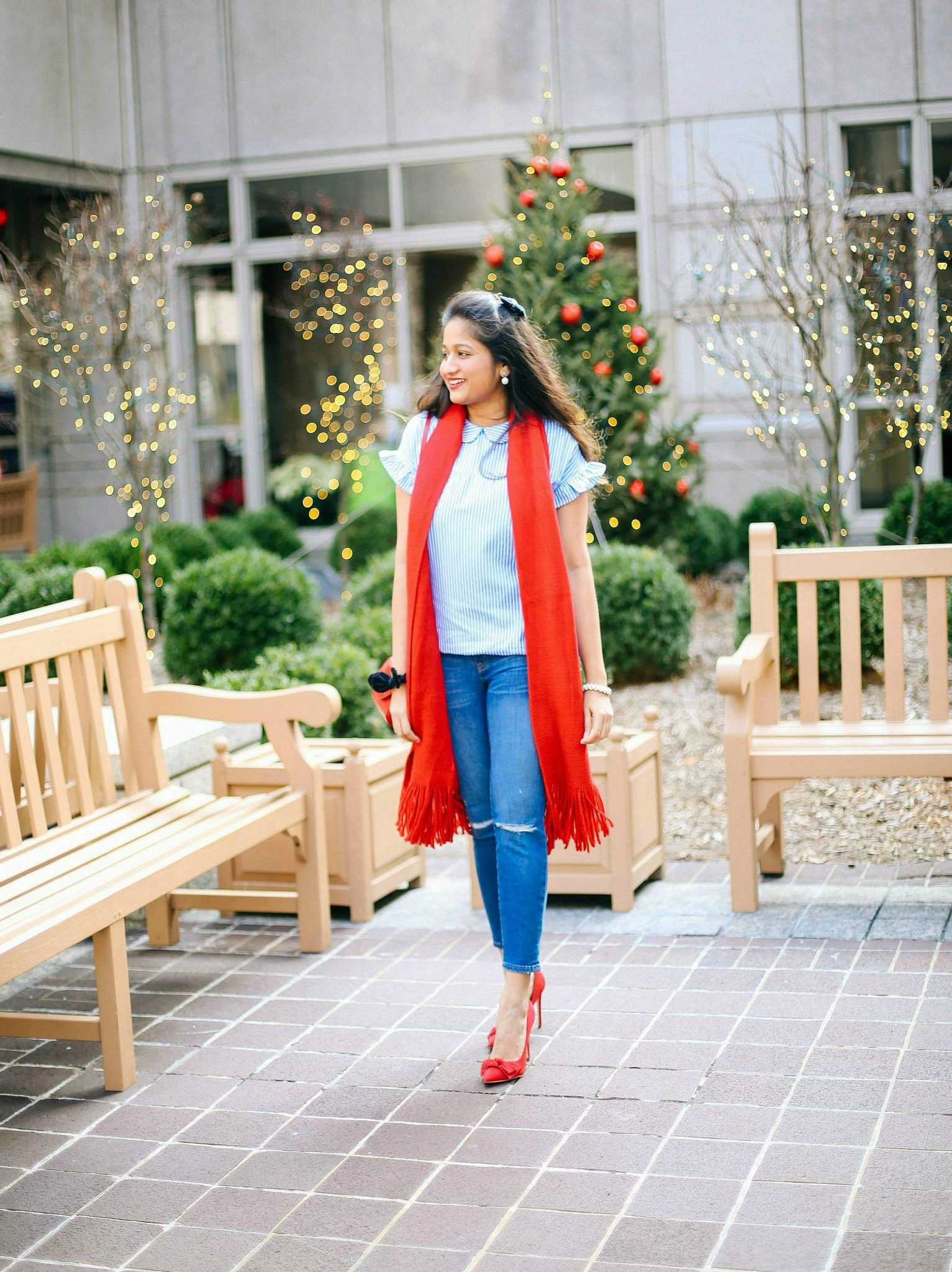 steve-madden-token-pointy-pump-red | Style | Christmas | Affordable Festive Clothing with Shein featured by top Ohio modest fashion blog Dreaming Loud