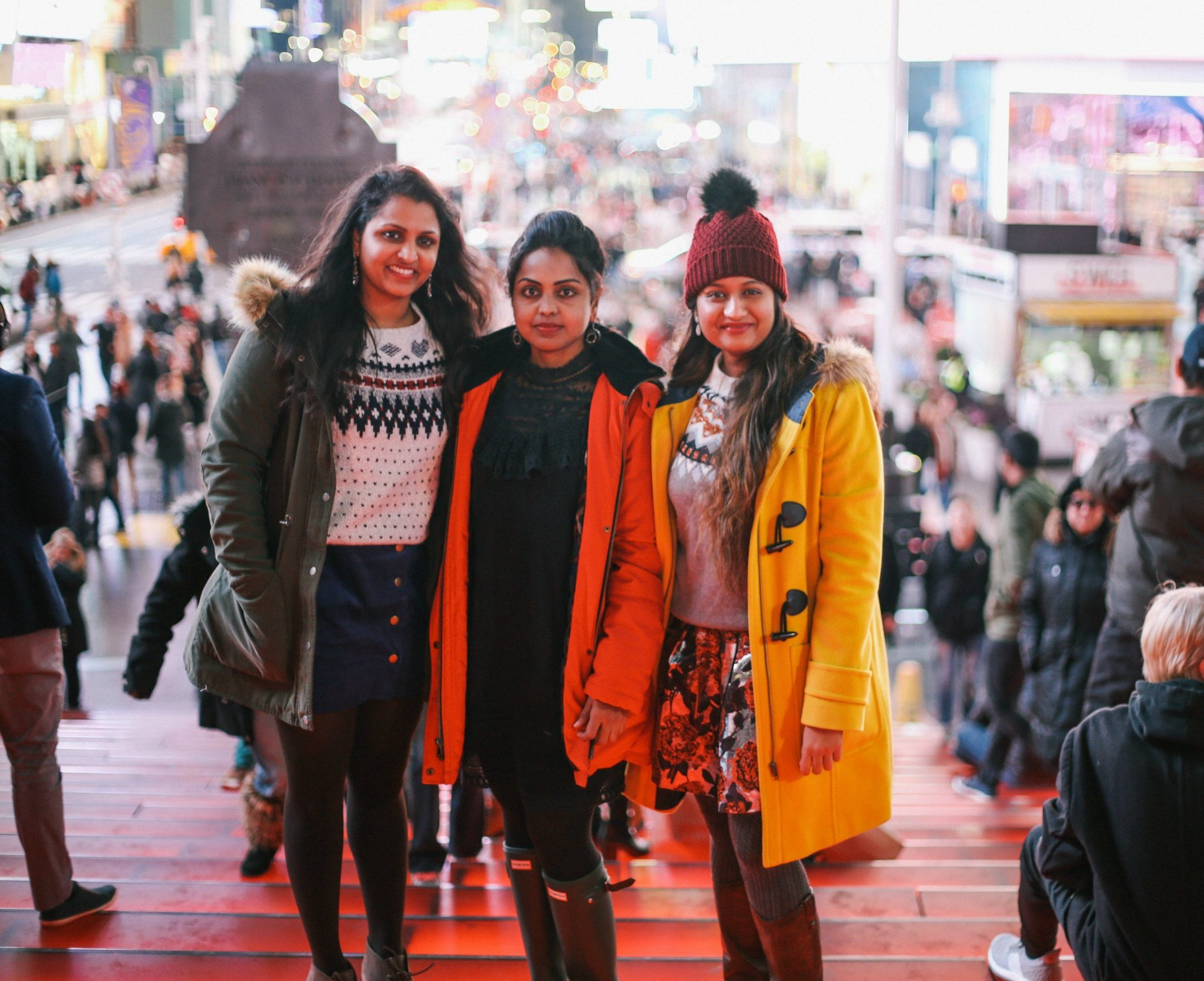 what-to-wear-in-nyc-in-november-1-of-1Times Square Photos featured by popular Ohio modest fashion blogger, Dreaming Loud