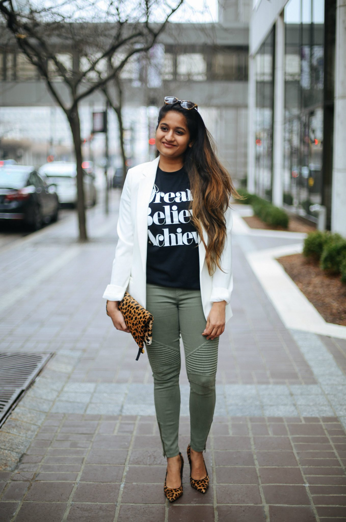 3 Ways To Wear a Moto Jegging- Casual, Dressy and Boho featured by popular Ohio modest fashion blogger, Dreaming Loud-SINCERELY-JULES-DREAM-BELIEVE-ACHIEVE-TEE-2