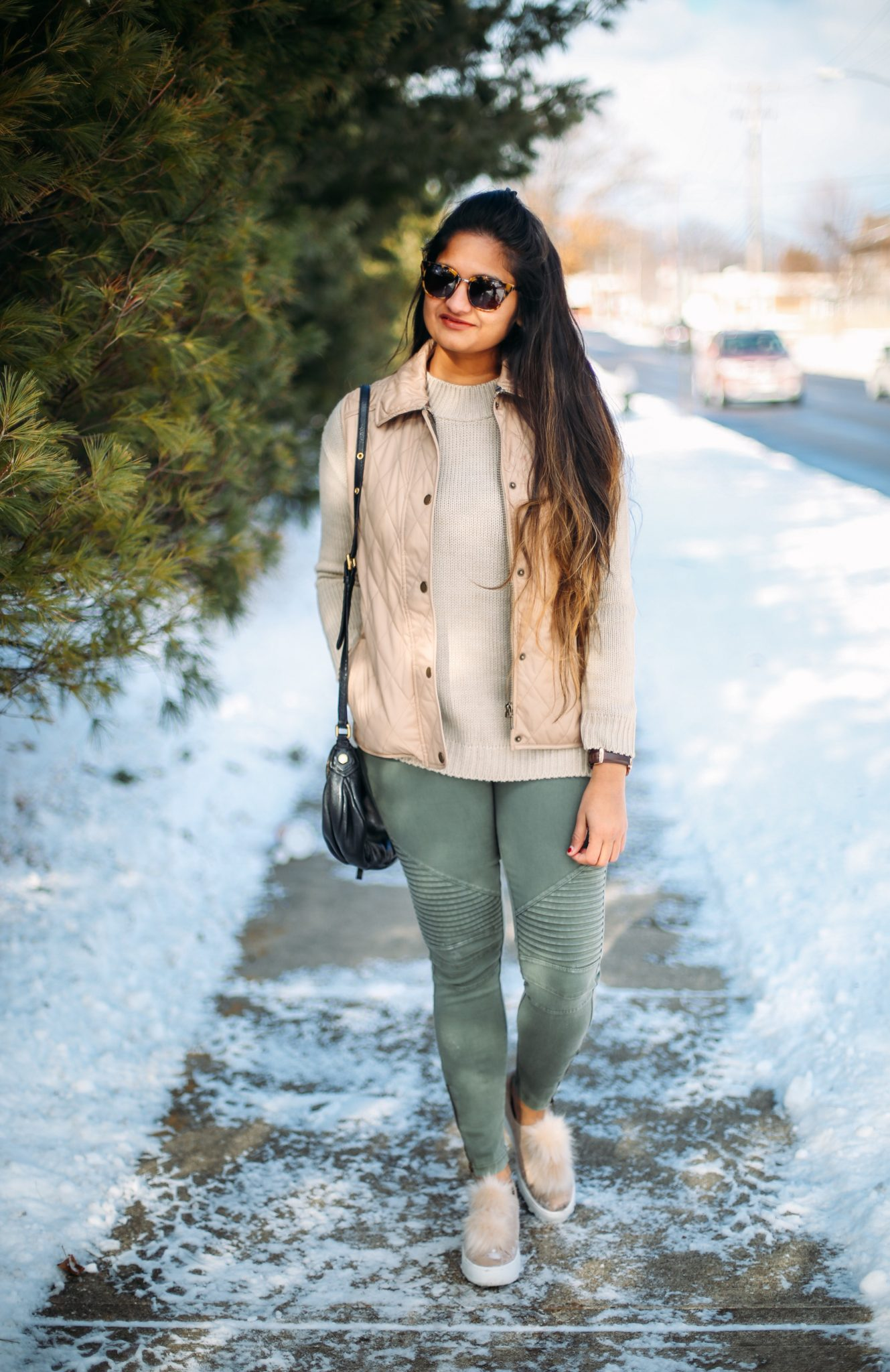 3 Ways To Wear a Moto Jegging- Casual, Dressy and Boho featured by popular Ohio modest fashion blogger, Dreaming Loud