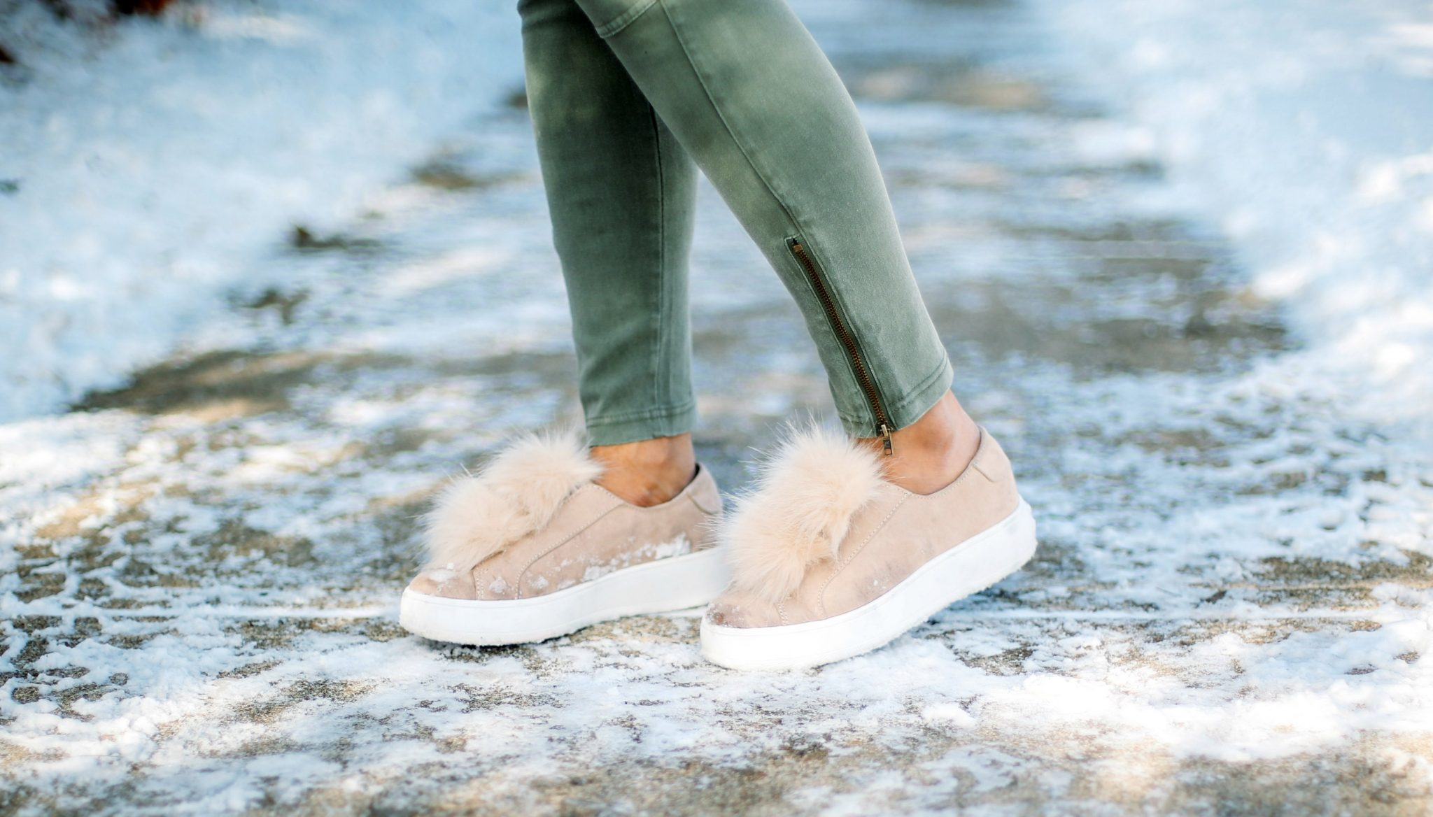3 Ways To Wear a Moto Jegging- Casual, Dressy and Boho featured by popular Ohio modest fashion blogger, Dreaming Loud-steve-madden-fur-sneakers-2