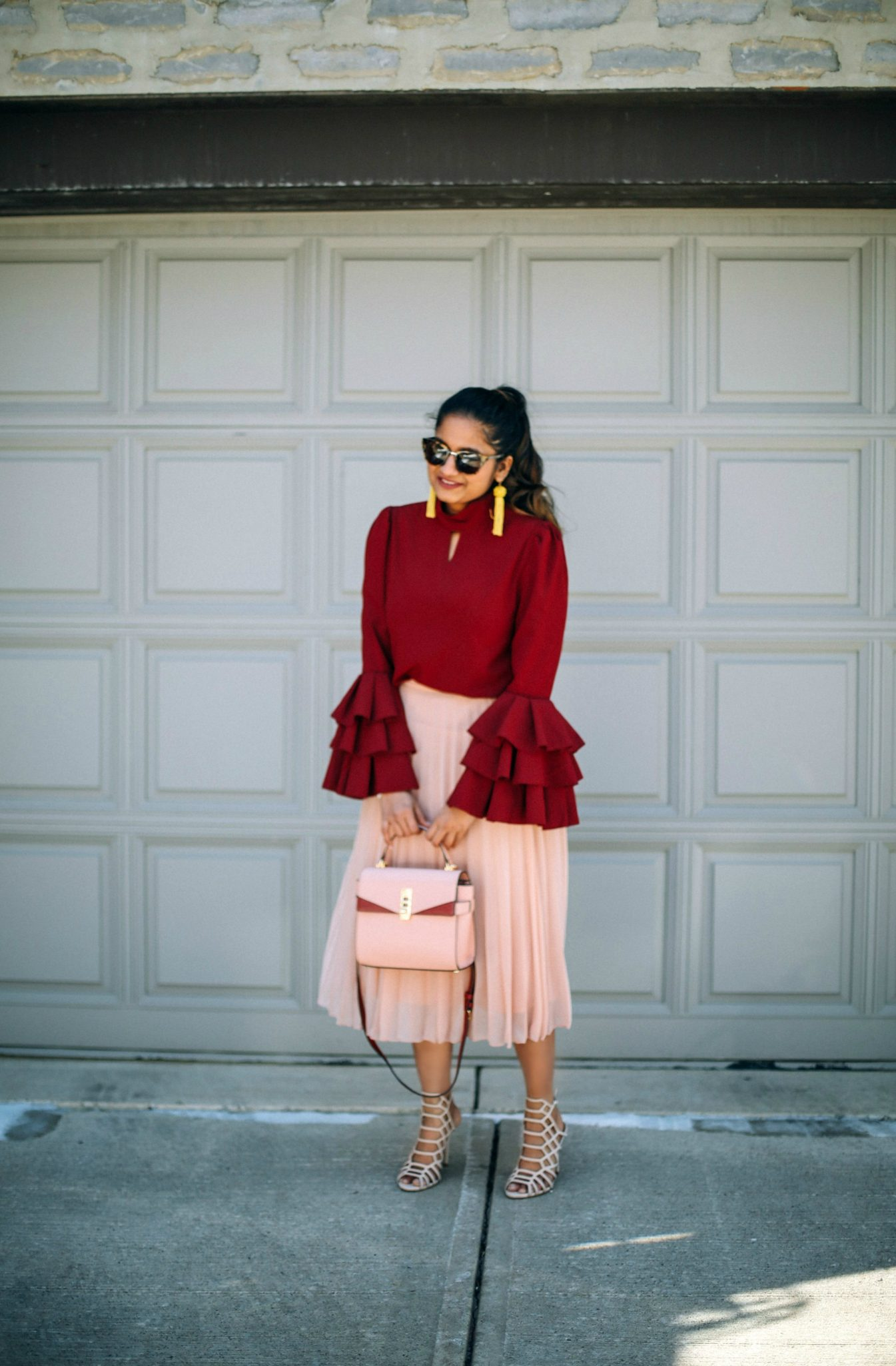 Lifestyle Blogger Surekha of Dreaming Loud sharing how to wear the bell sleeve trend
