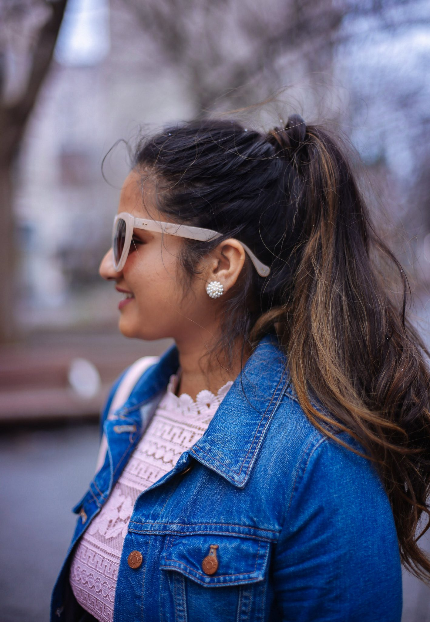 lifestyle blog dreaming loud wearing Lonna & Lilly - Clustered Pearl Stud Earrings