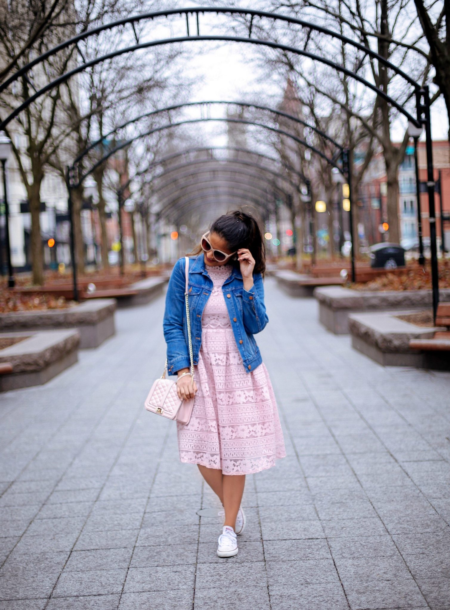 lifestyle blog dreaming loud wearing sammy dress Crochet Openwork Lace High Waist Flare Dress