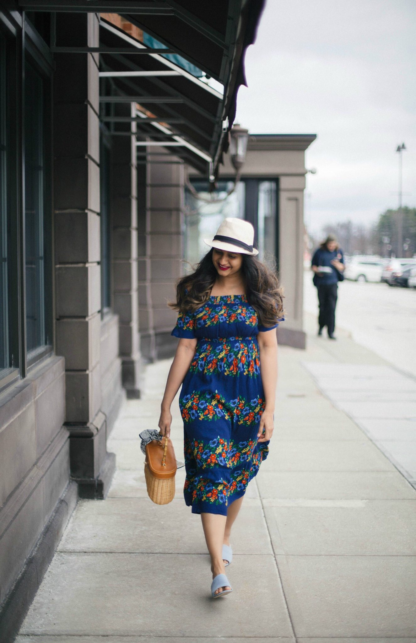 Ava-bamboo-handle-wicker-satchel-1 - The Best Spring Summer Dresses featured by Ohio modest fashion blogger, Dreaming Loud