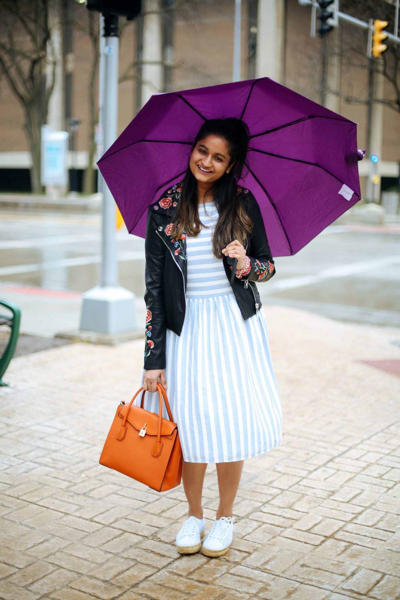Asos-VERO-MODA-STRIPED-SKATER-DRESS-2 - The Best Spring Summer Dresses featured by Ohio modest fashion blogger, Dreaming Loud