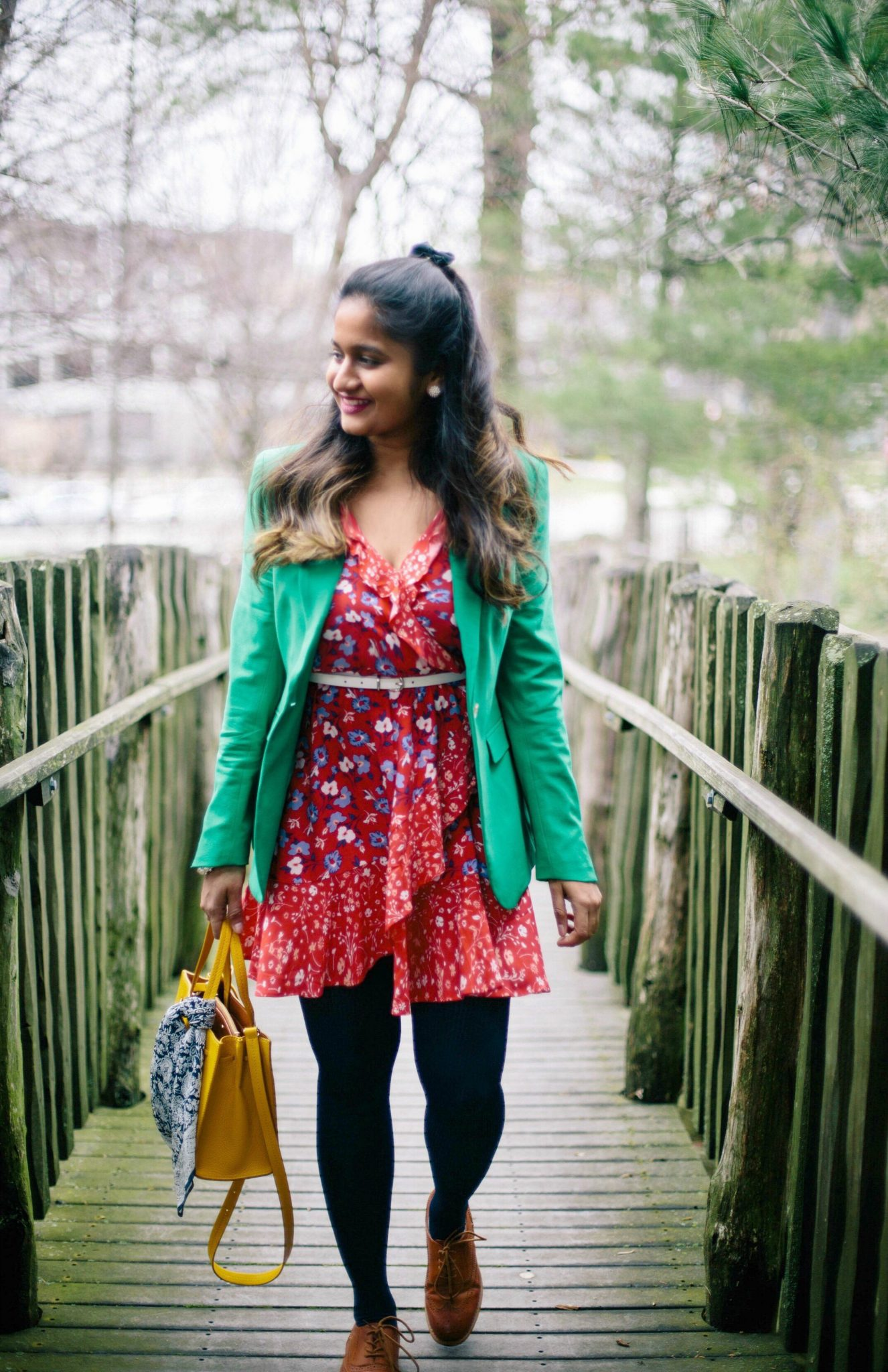banana-republic-GREEN-LIGHTWEIGHT-WOOL-ONE-BUTTON-BLAZER-2 - The Best Spring Summer Dresses featured by Ohio modest fashion blogger, Dreaming Loud