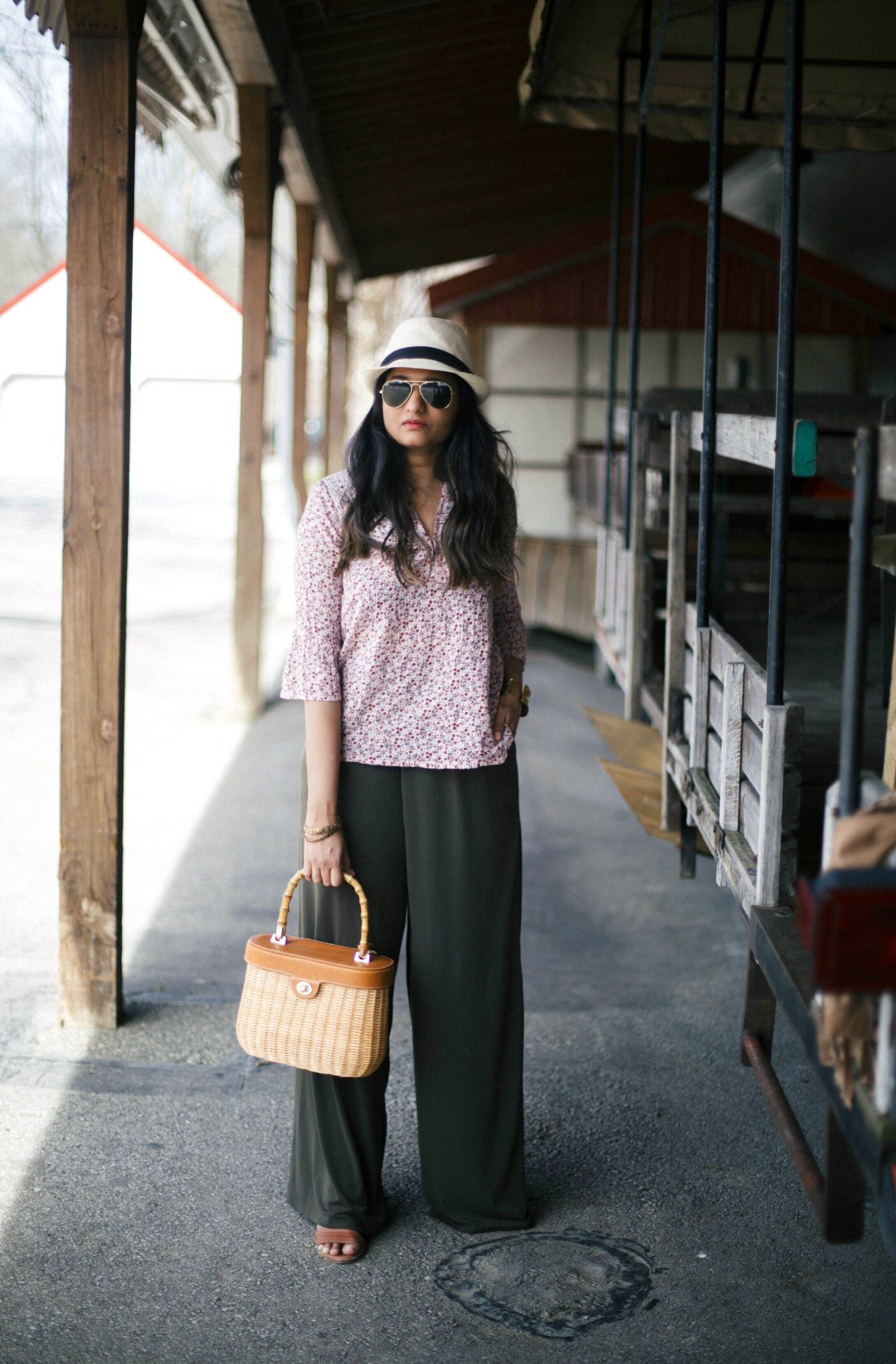 express-soft-wide-leg-pant - How To Wear Khaki featured by popular modest fashion blogger, Dreaming Loud