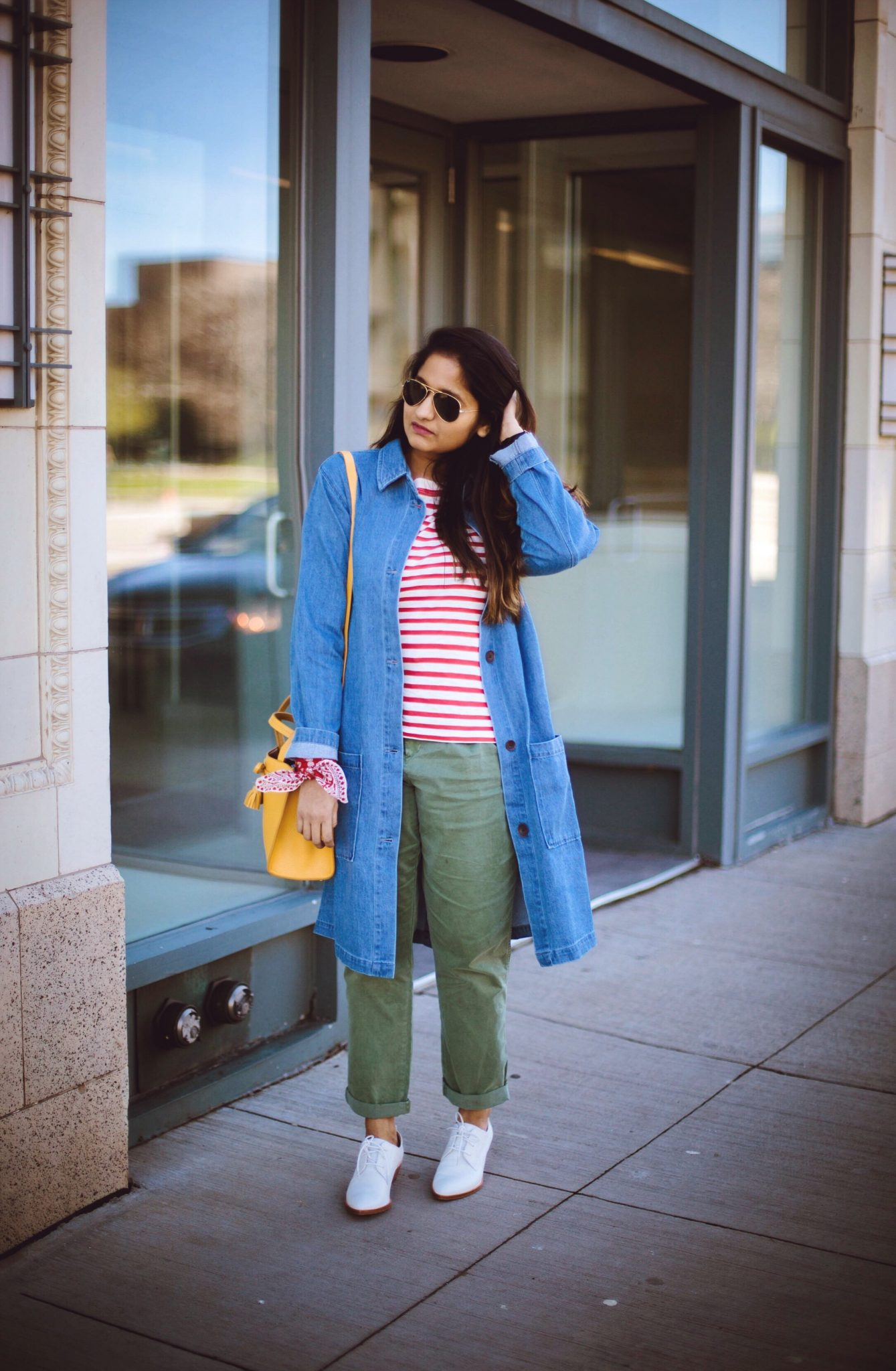 frye-erica-white-oxford-1 - How To Wear Khaki featured by popular modest fashion blogger, Dreaming Loud
