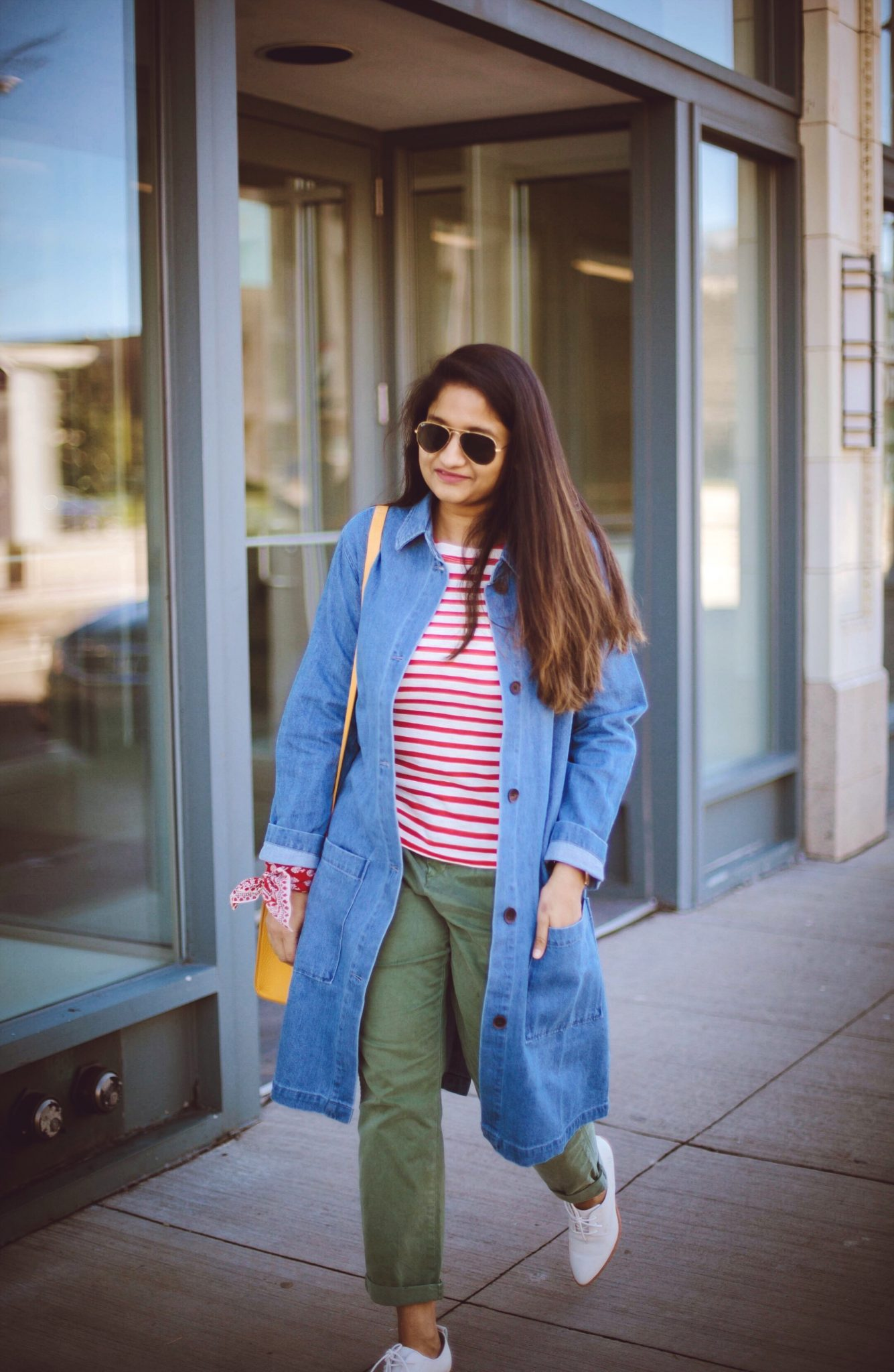 how-to-wear-khaki-pants-in-colorful-ways-1. - How To Wear Khaki featured by popular modest fashion blogger, Dreaming Loud