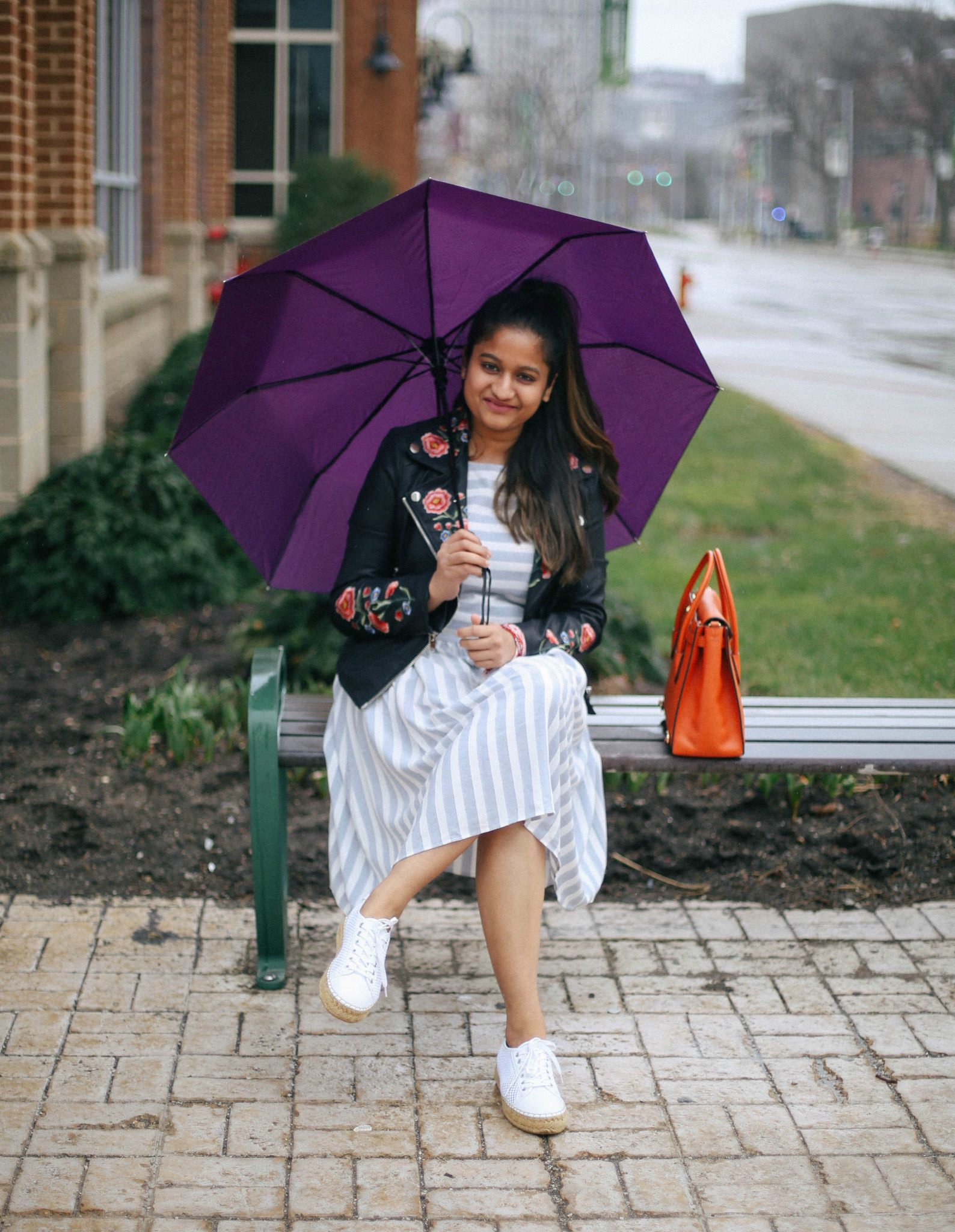 vera-moda-stripe-skater-dress - The Best Spring Summer Dresses featured by Ohio modest fashion blogger, Dreaming Loud