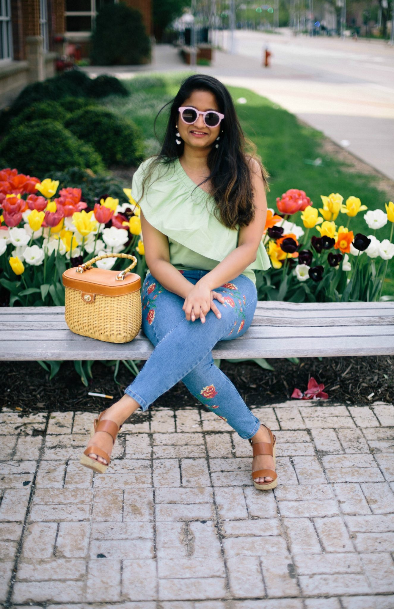 Asos-one-shoulder-top-in-cotton - How To Style a One Shoulder Top featured by popular Ohio modest fashion blogger, Dreaming Loud