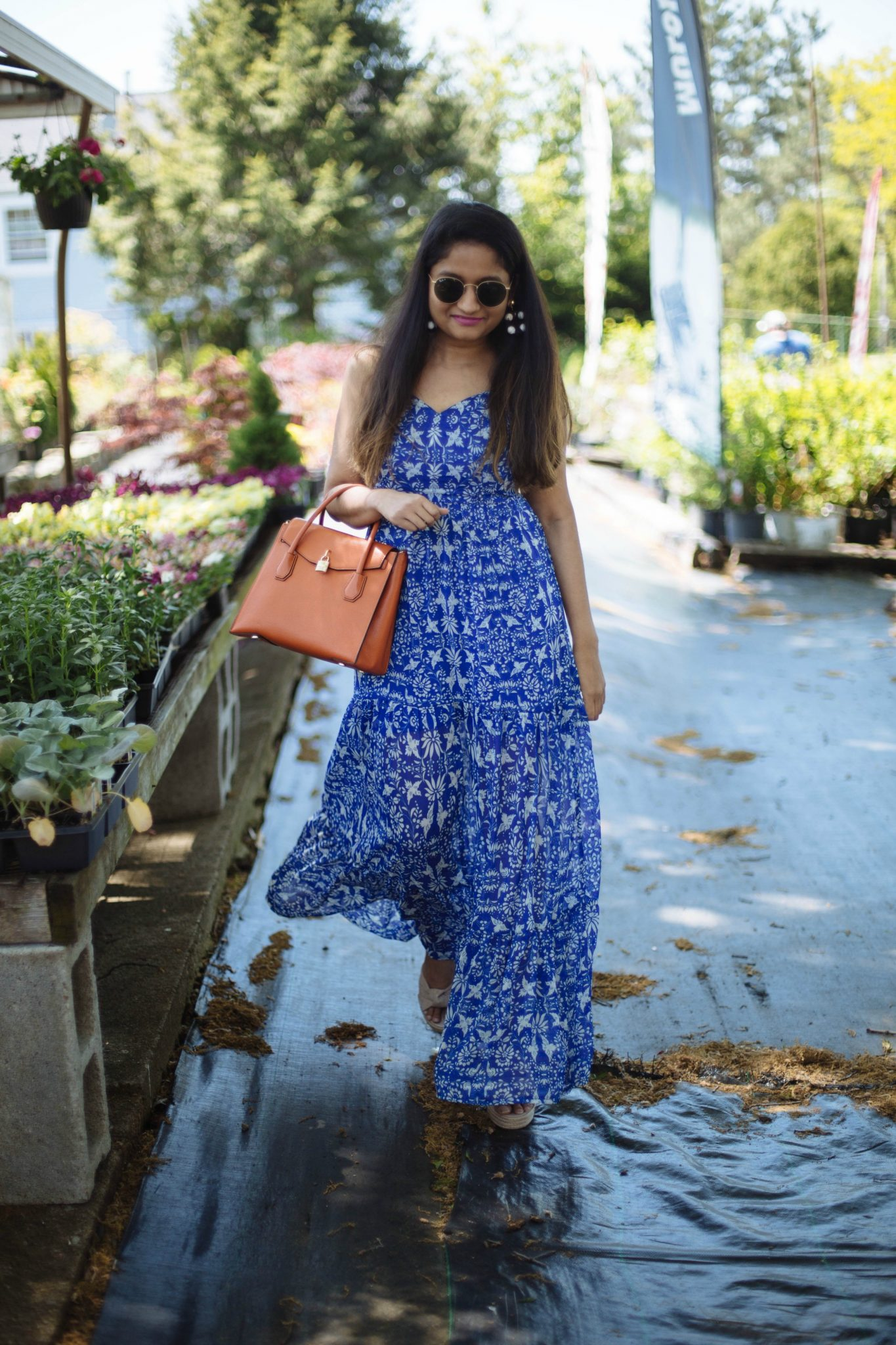target-XHILARATION-Tiered-maxi-dress -blue- Cute Summer Maxi Dresses Under $40 featured by popular Ohio modest fashion blogger, Dreaming Loud