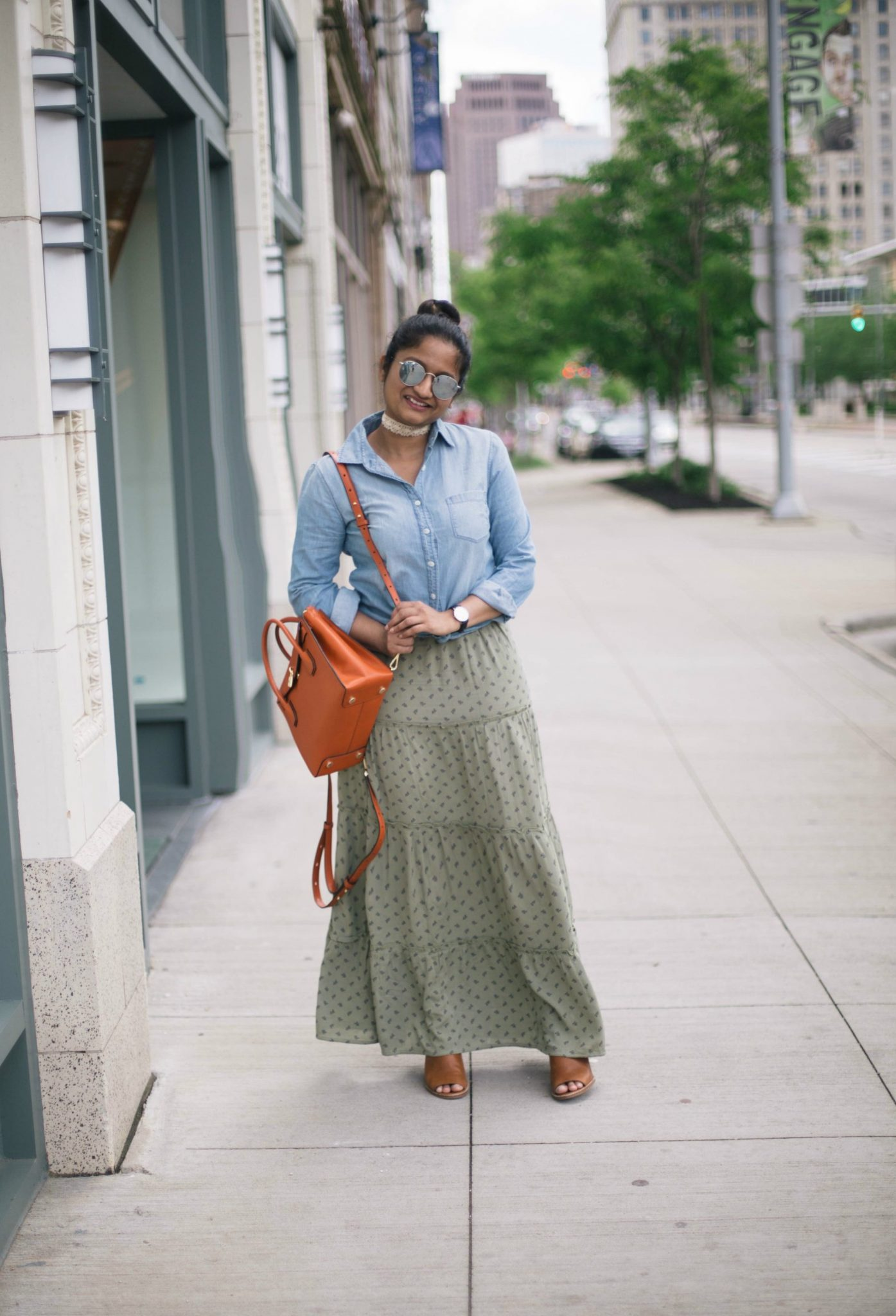 tips-on-how-to-wear-a maxi-skirt-for-petites - Maxi Skirts For Petites featured by popular Ohio modest fashion blogger, Dreaming Loud