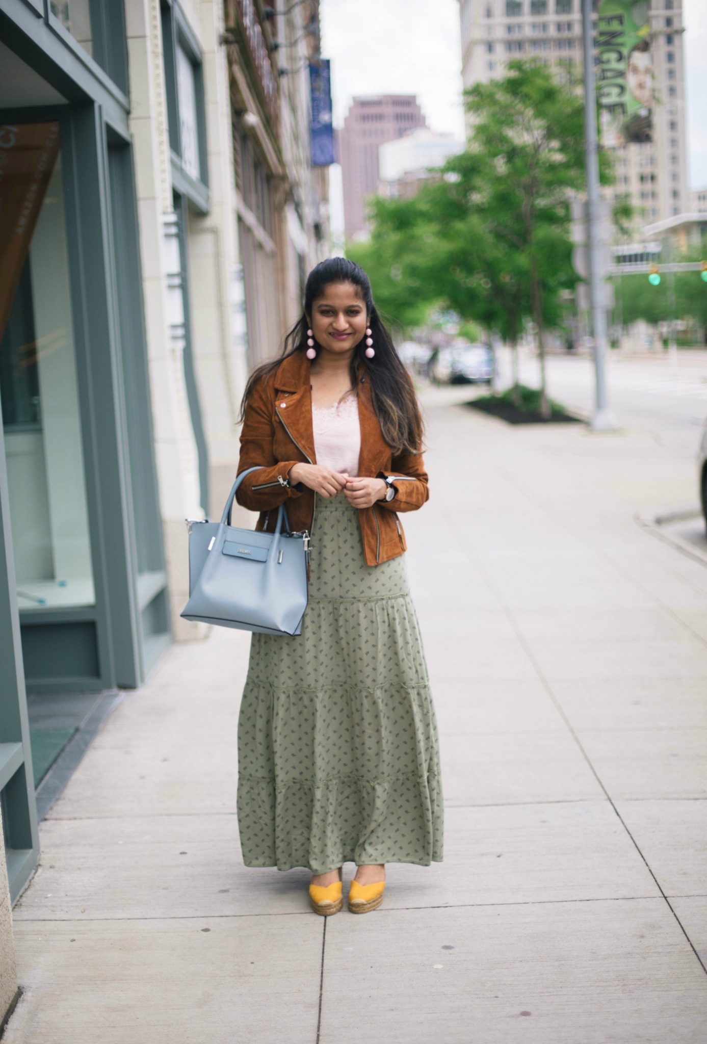 CASTANER-CHIARA-CANVAS-WEDGE-YELLOW ESPADRILLES - Maxi Skirts For Petites featured by popular Ohio modest fashion blogger, Dreaming Loud