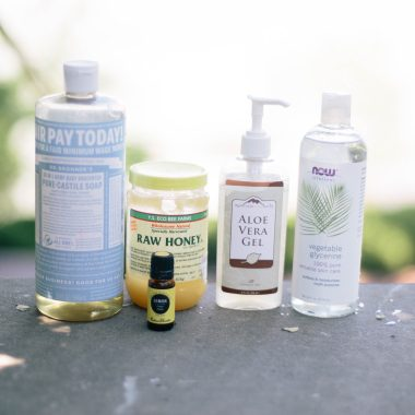 diy-all-natural-body-wash - All Natural Body Wash featured by popular Ohio natural beauty blogger, Dreaming Loud