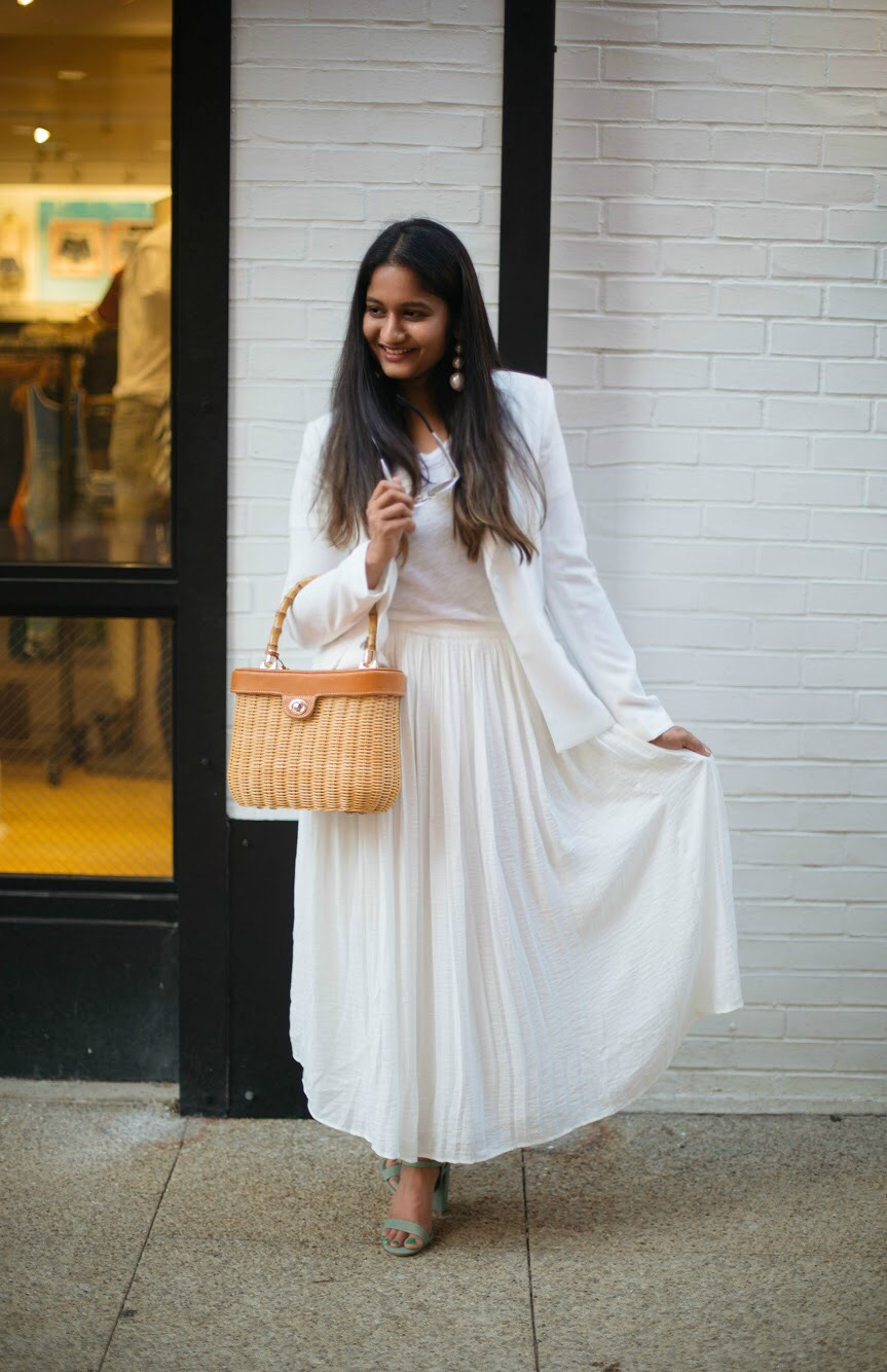 how-to-wear-white-on-white-for-summer - An All White Summer Outfit featured by popular Ohio modest fashion blogger, Dreaming Loud
