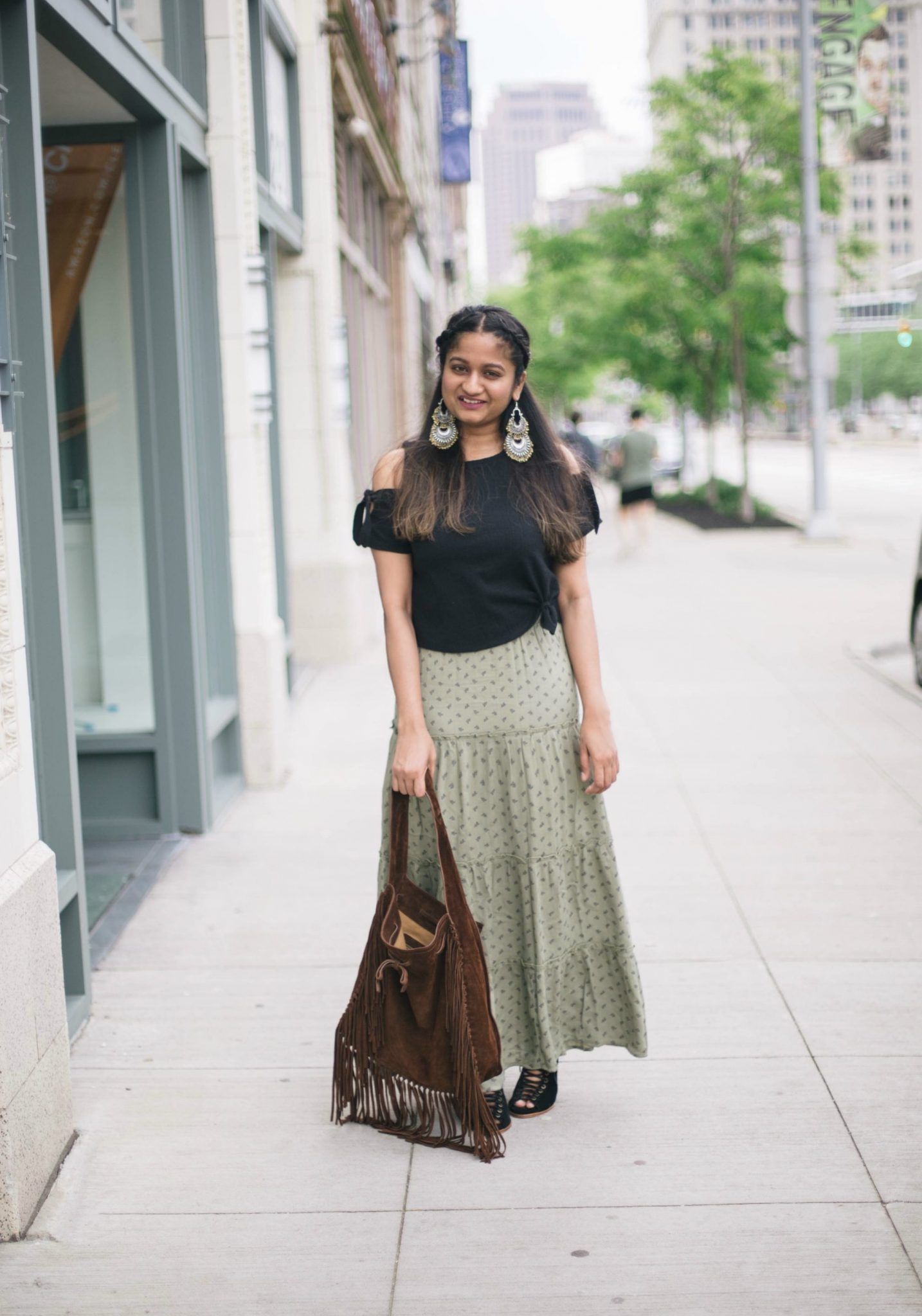 target-mossimo-maxi-skirt - Maxi Skirts For Petites featured by popular Ohio modest fashion blogger, Dreaming Loud