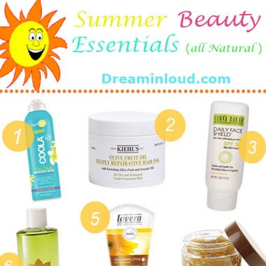 Summer Natural Beauty Products featured by popular Ohio natural beauty blogger, Dreaming Loud