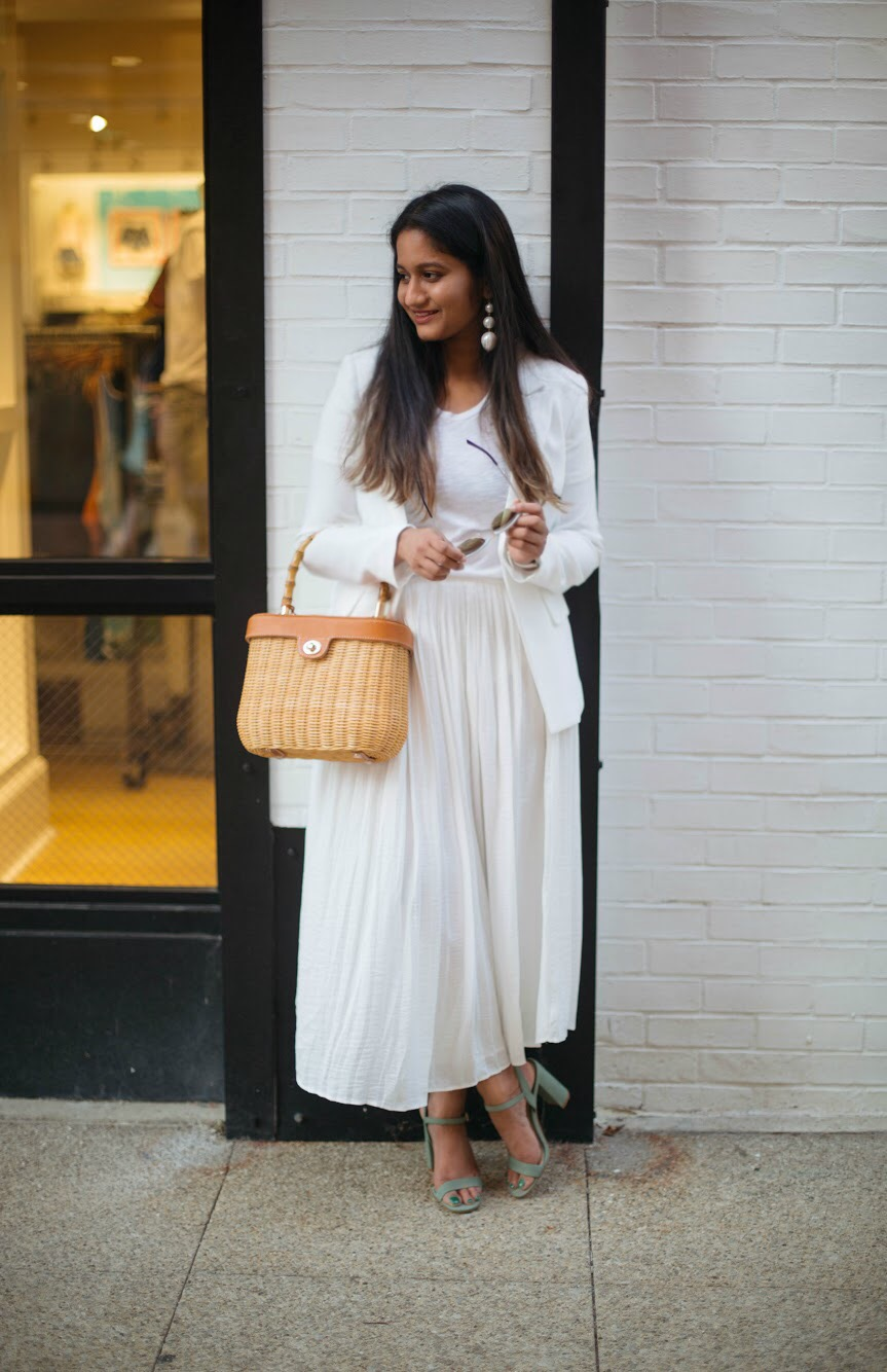 summer-white-on-white-trend-outfits - An All White Summer Outfit featured by popular Ohio modest fashion blogger, Dreaming Loud