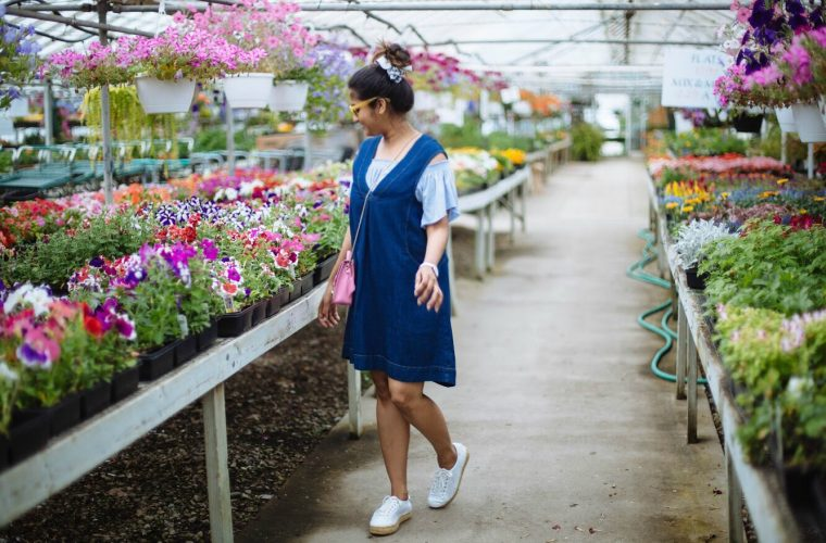 denim-pinafore-dress - Spring to Summer Instagram Outfits featured by popular Ohio modest fashion blogger, Dreaming Loud