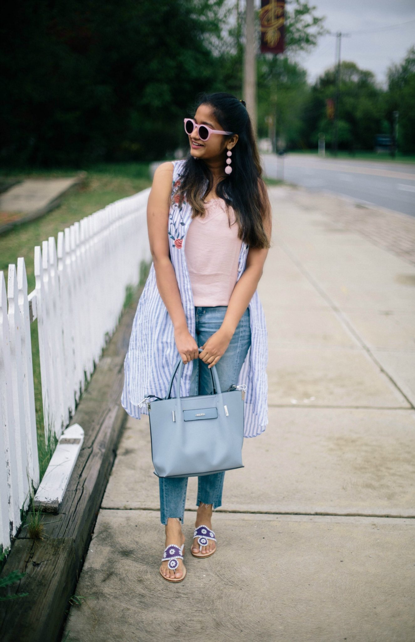 target-who-what-wear-lace-tank-pink - Spring to Summer Instagram Outfits featured by popular Ohio modest fashion blogger, Dreaming Loud