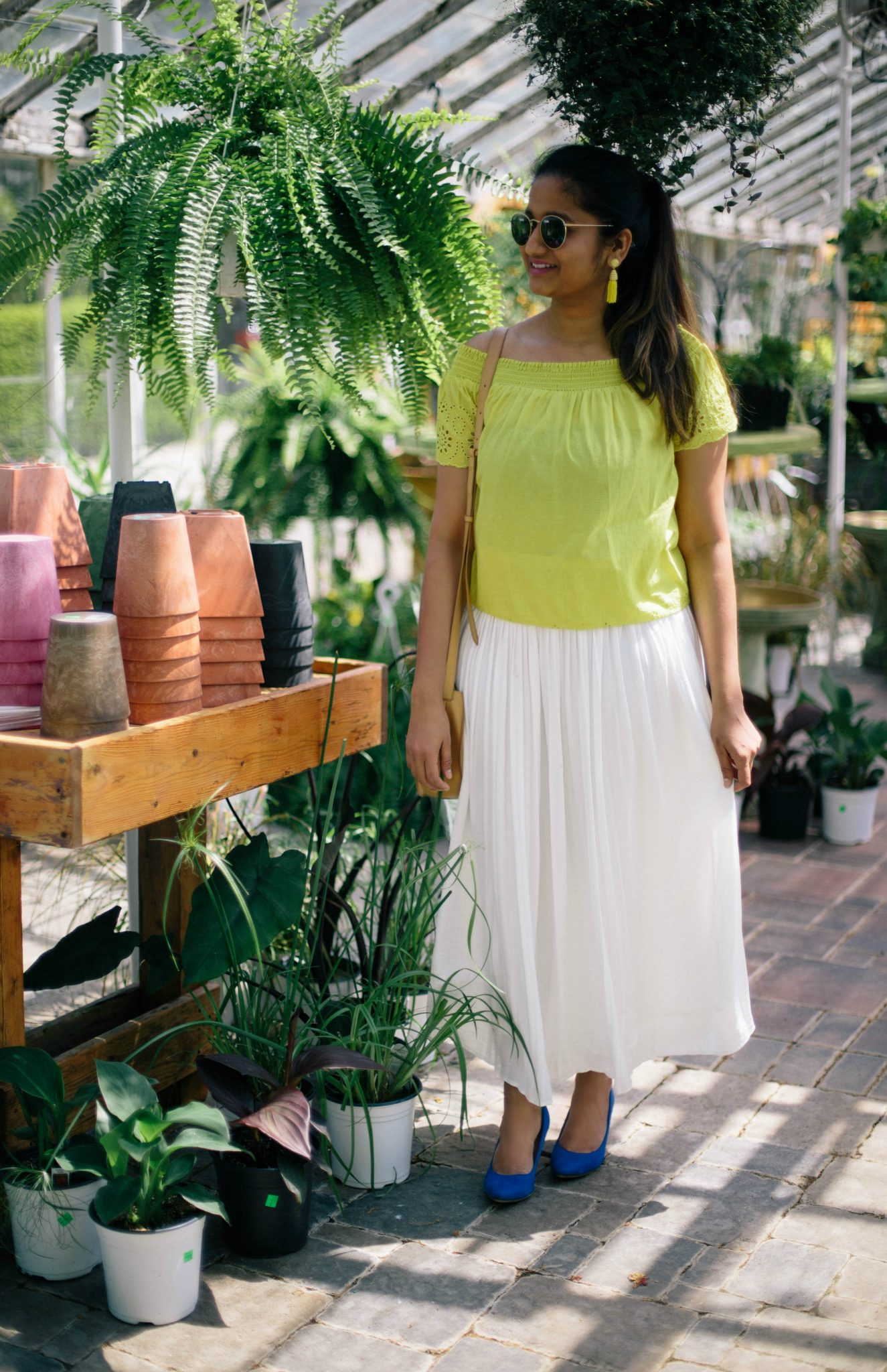 vince-camuto-white-pleated-skirt-2 - Spring to Summer Instagram Outfits featured by popular Ohio modest fashion blogger, Dreaming Loud