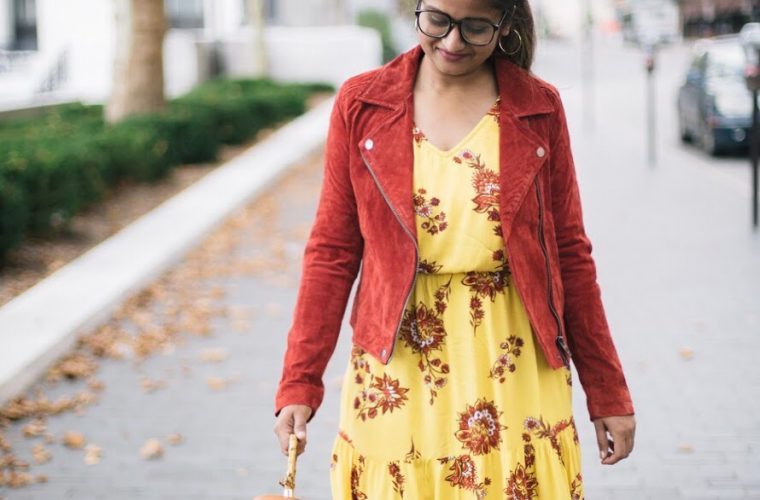 Blanknyc-Suede Moto-Jacket-red - Fall Essentials & Trends featured by popular Ohio modest fashion blogger, Dreaming Loud