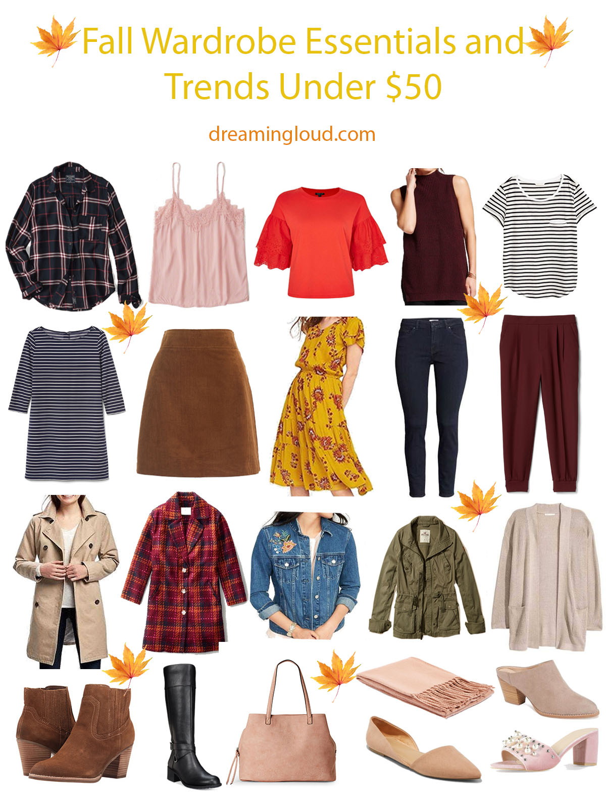 Fall Wardrobe Essentials and Trends Under $50 ...