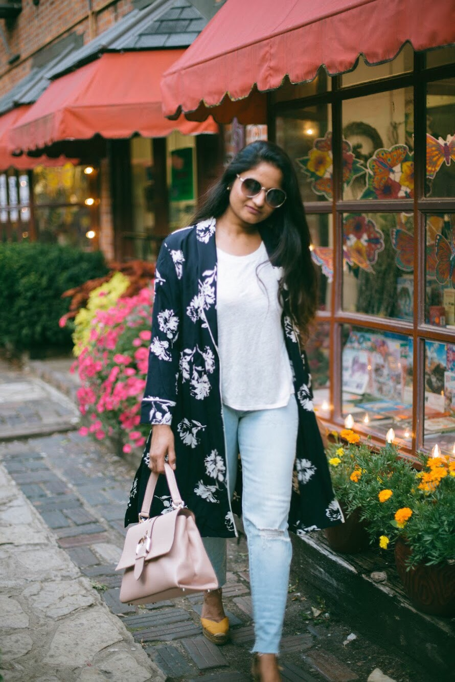 henri-bendel-riverside-top-handle-bag-1 - 3 Ways To Wear a Floral Kimono featured by popular Ohio modest fashion blogger, Dreaming Loud