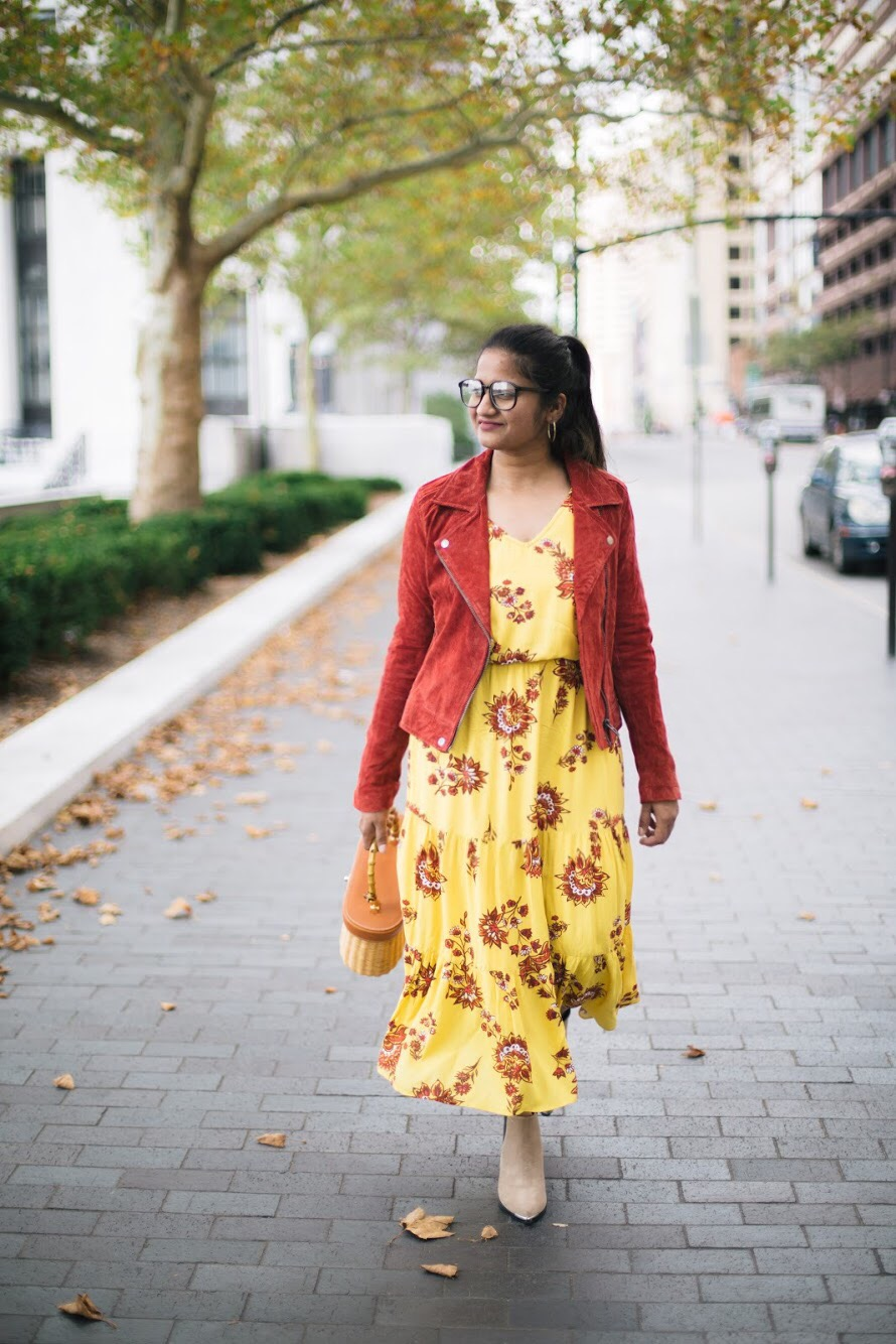 old-navy-Flutter-Sleeve-Waisted-Midi-dress-3 - Fall Essentials & Trends featured by popular Ohio modest fashion blogger, Dreaming Loud