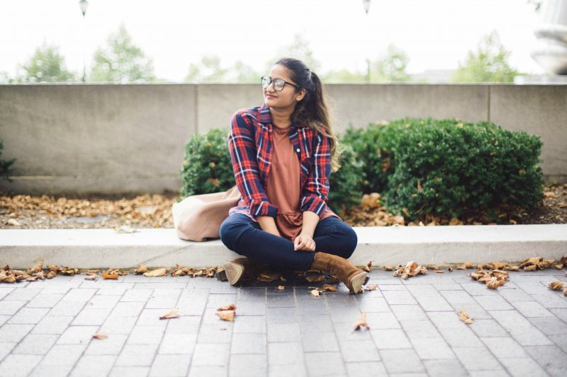 uo-Truly-Madly-Deeply-Babydoll-Peplum-Tee - Back To School Outfits For College Students featured by Ohio modest fashion blogger, Dreaming Loud