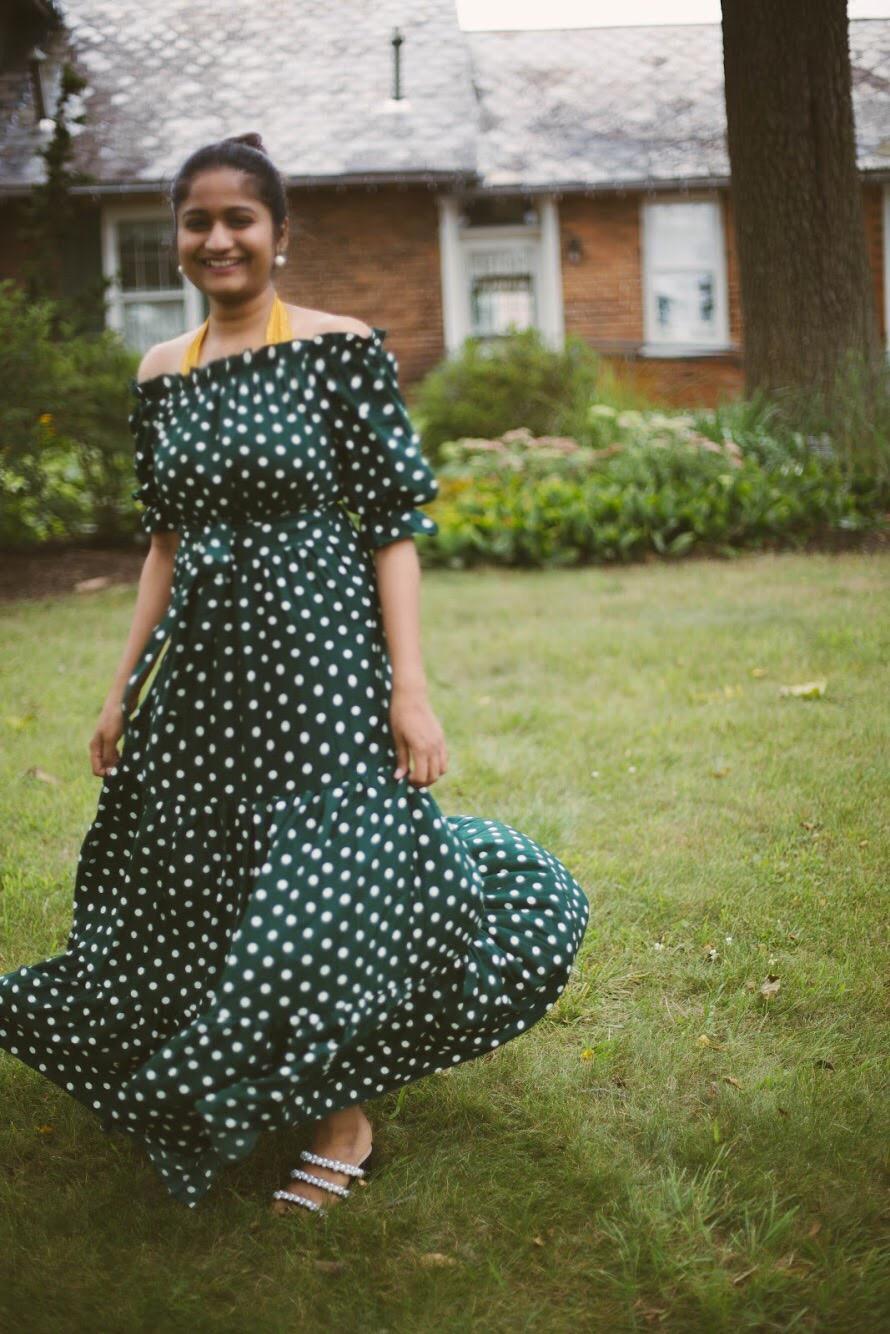 lifestyle-blogger-surekha-of-dreaming-loud-wearing-Shein-Polka-Dot-maxi-dress